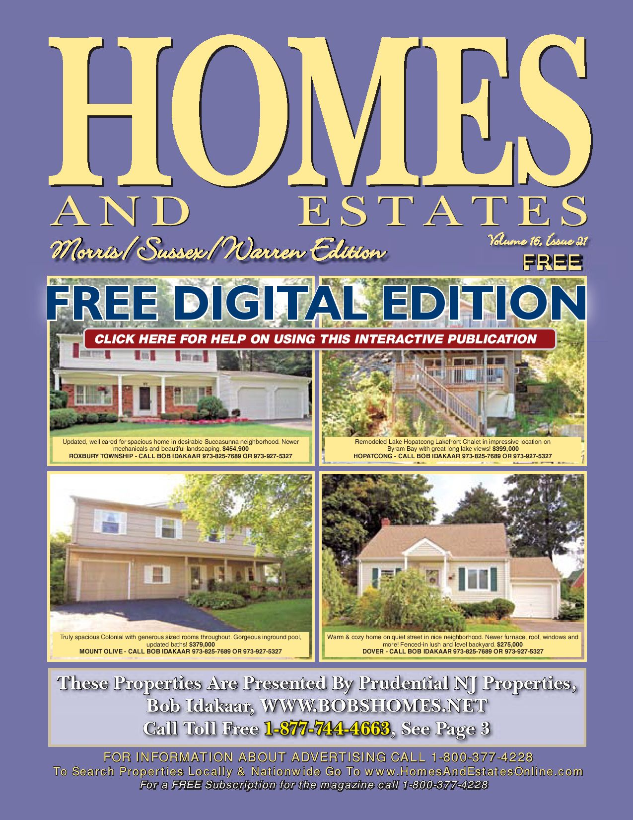 Homes and Estates Magazine Morris/Sussex/Warren NJ by Gene
