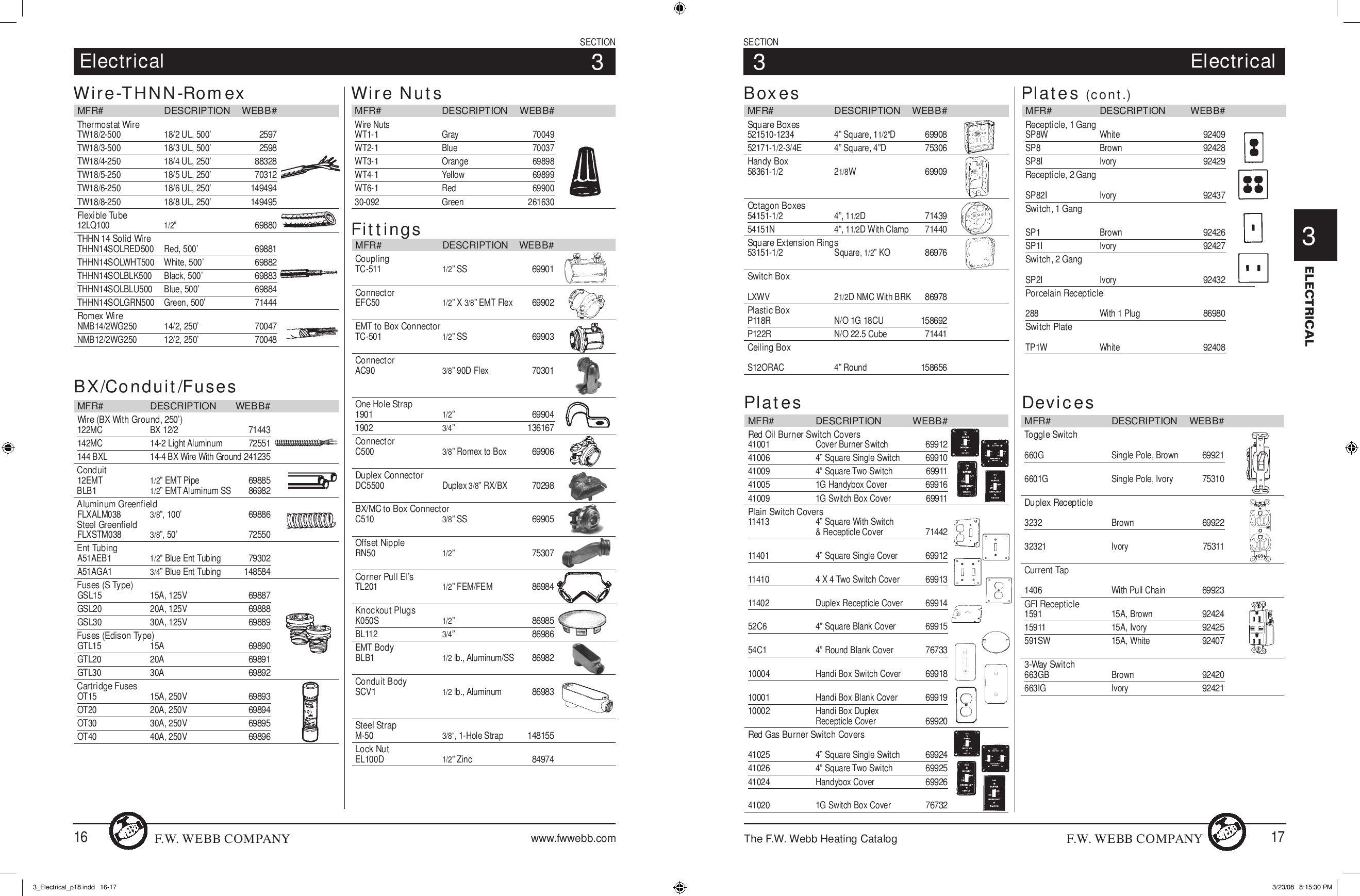 technician u0026 39 s heating catalog by f w  webb company