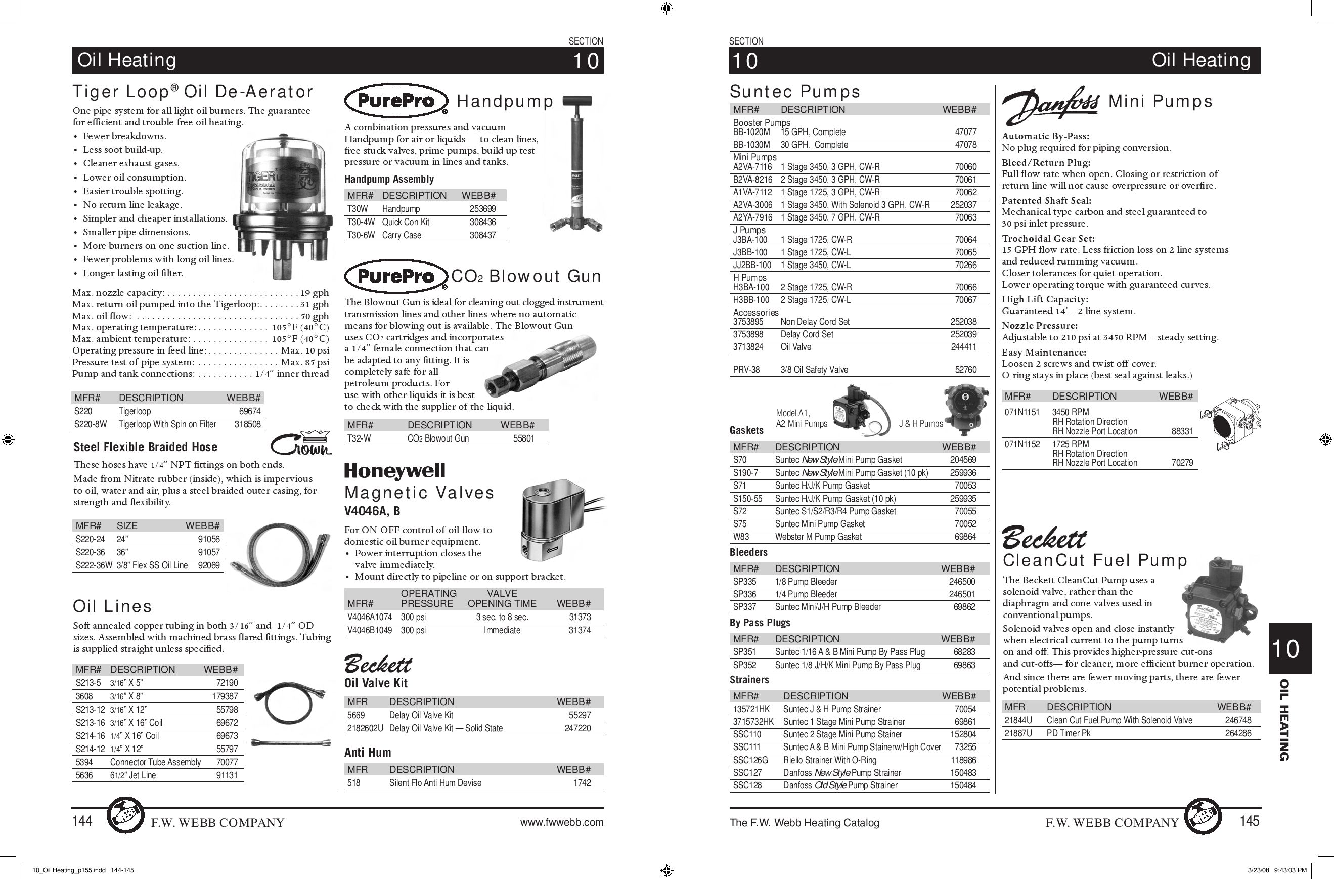 technician u0026 39 s heating catalog by f w  webb company
