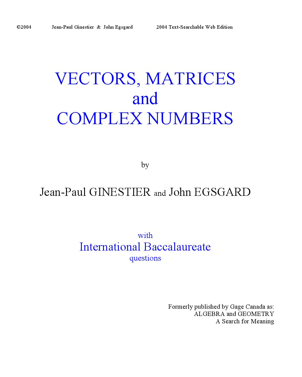 Vectors matrices complex numbers part 2 by jean paul ginestier vectors matrices complex numbers part 2 by jean paul ginestier issuu falaconquin