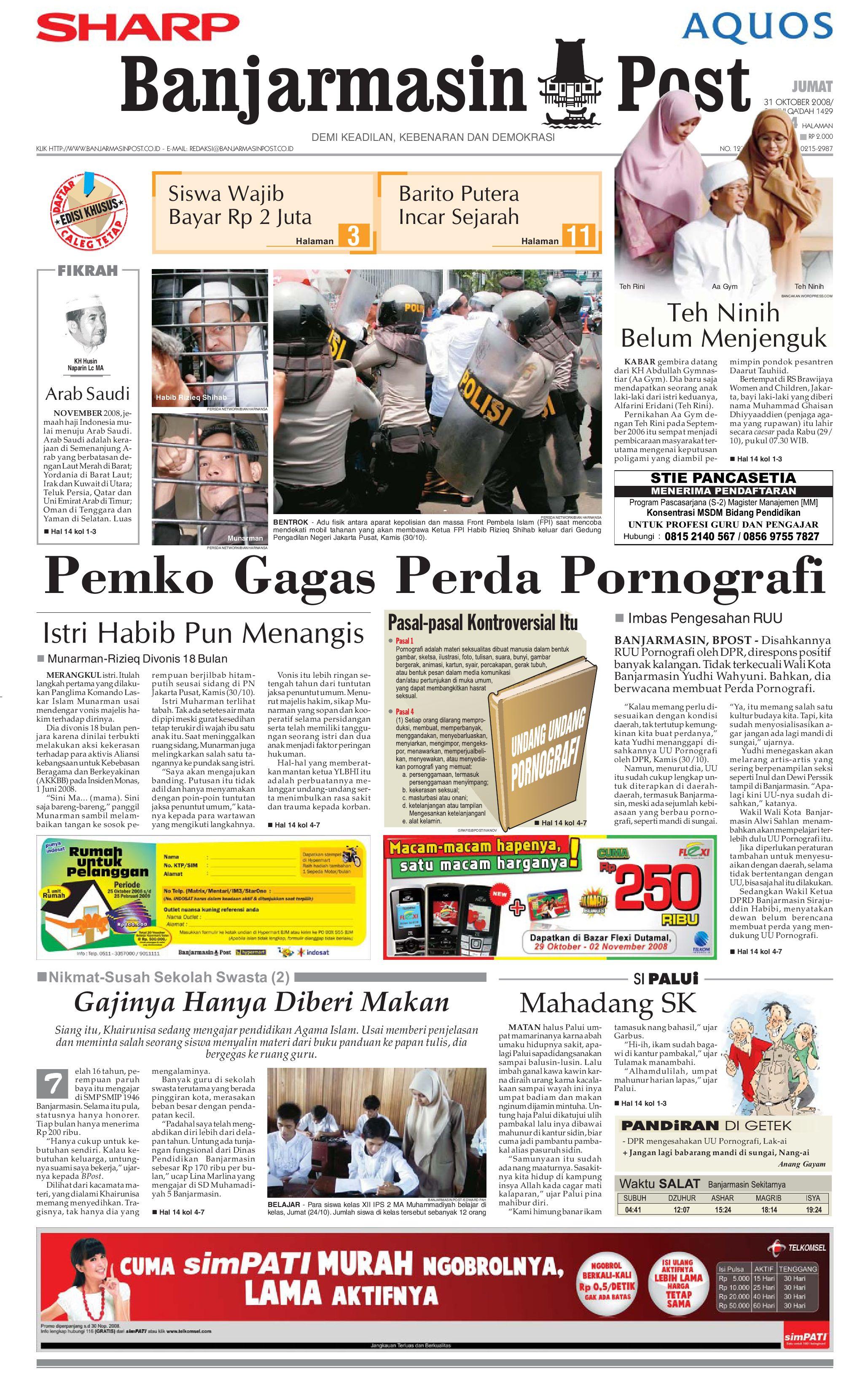 Banjarmasin Post - 31 Oktober 2008 by Banjarmasin Post - issuu b410764c4b