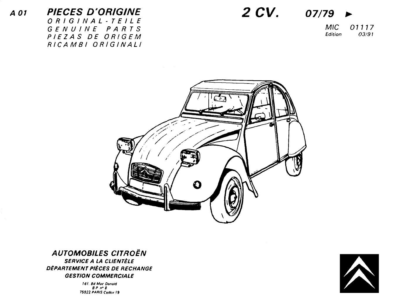 Citroen 2cv Genuine Parts By Rob Issuu