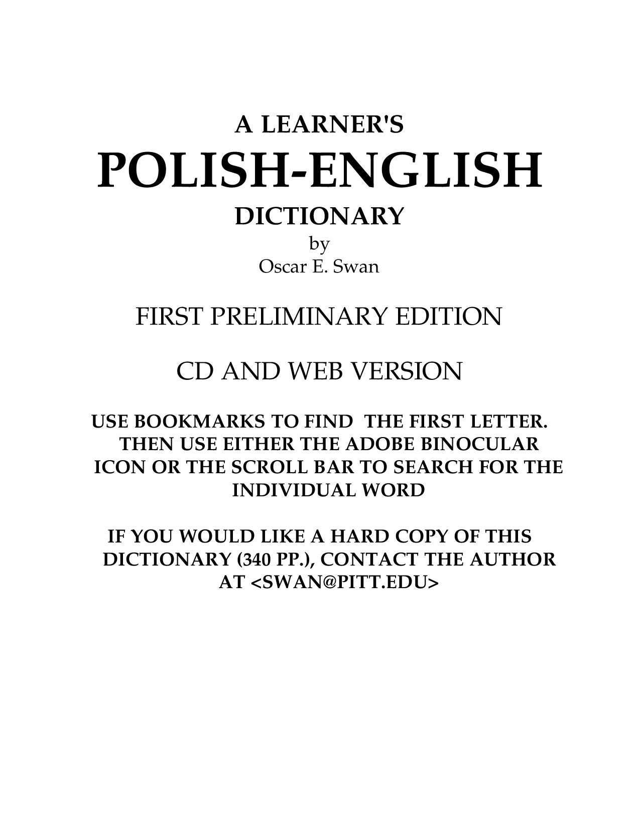 Polish English Dictionary By Michael B Issuu