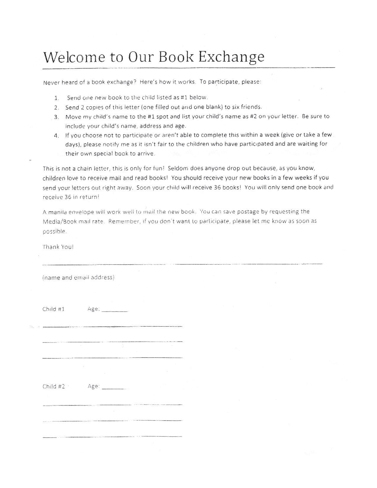 Book Exchange Letter By Bridget Greer Issuu