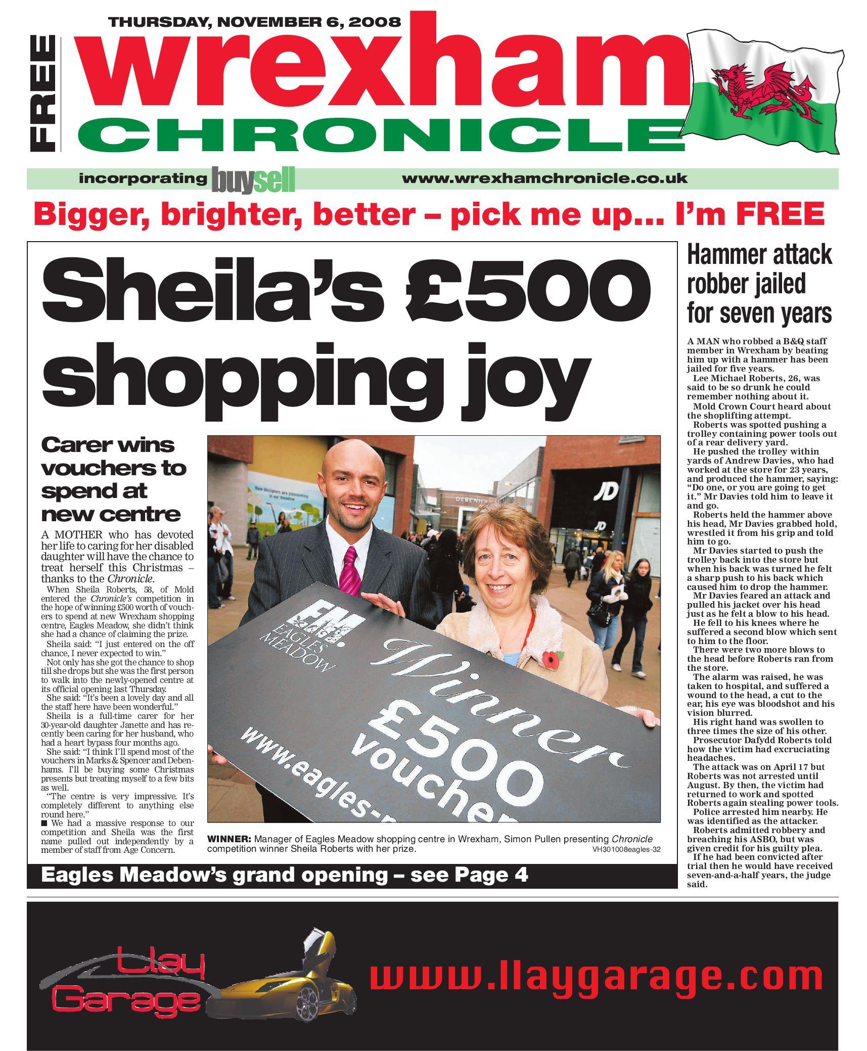 Wrexham Chronicle 6 11 08 By James Shepherd Issuu