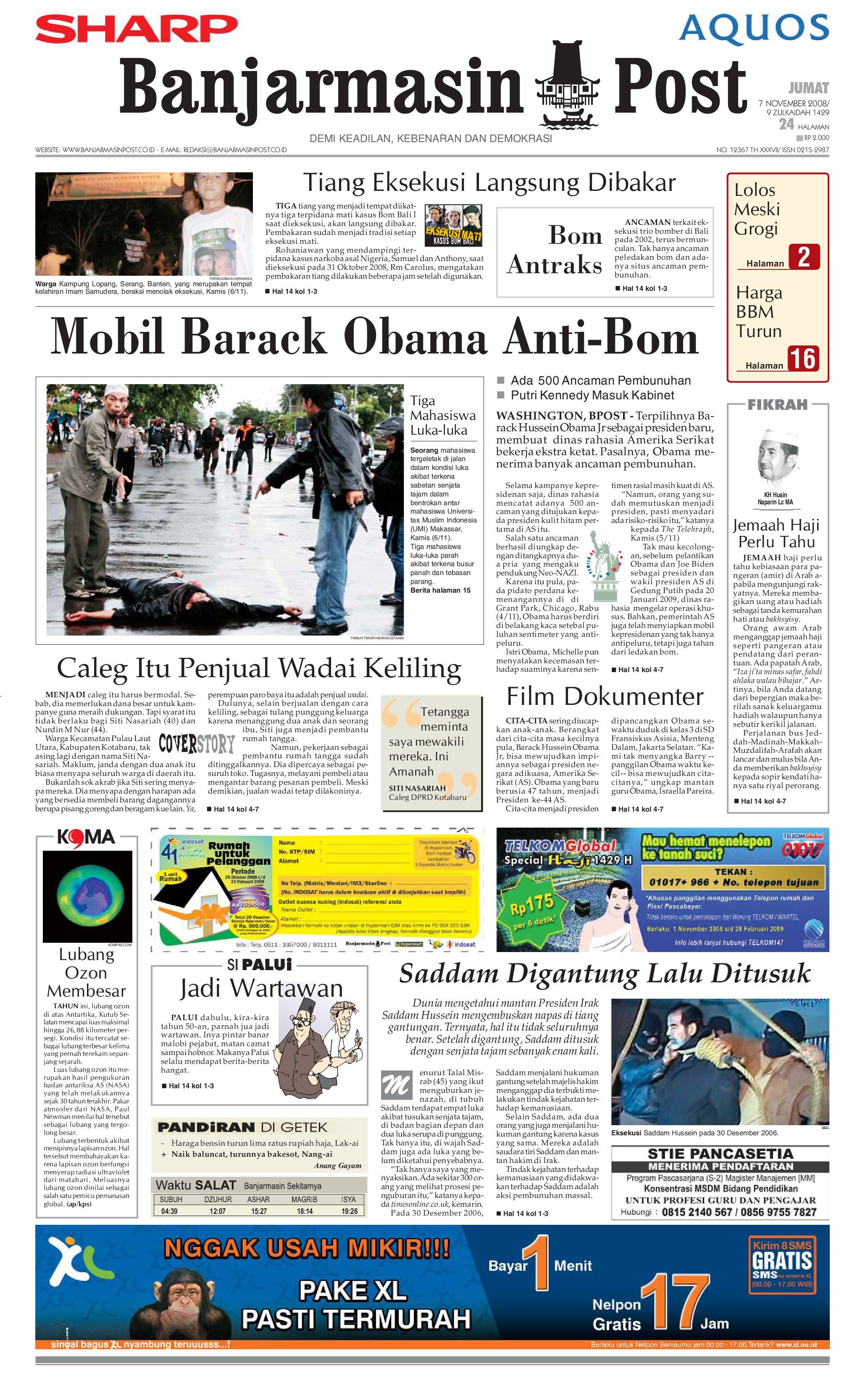 Banjarmasin Post 7 November 2008 By Banjarmasin Post Issuu
