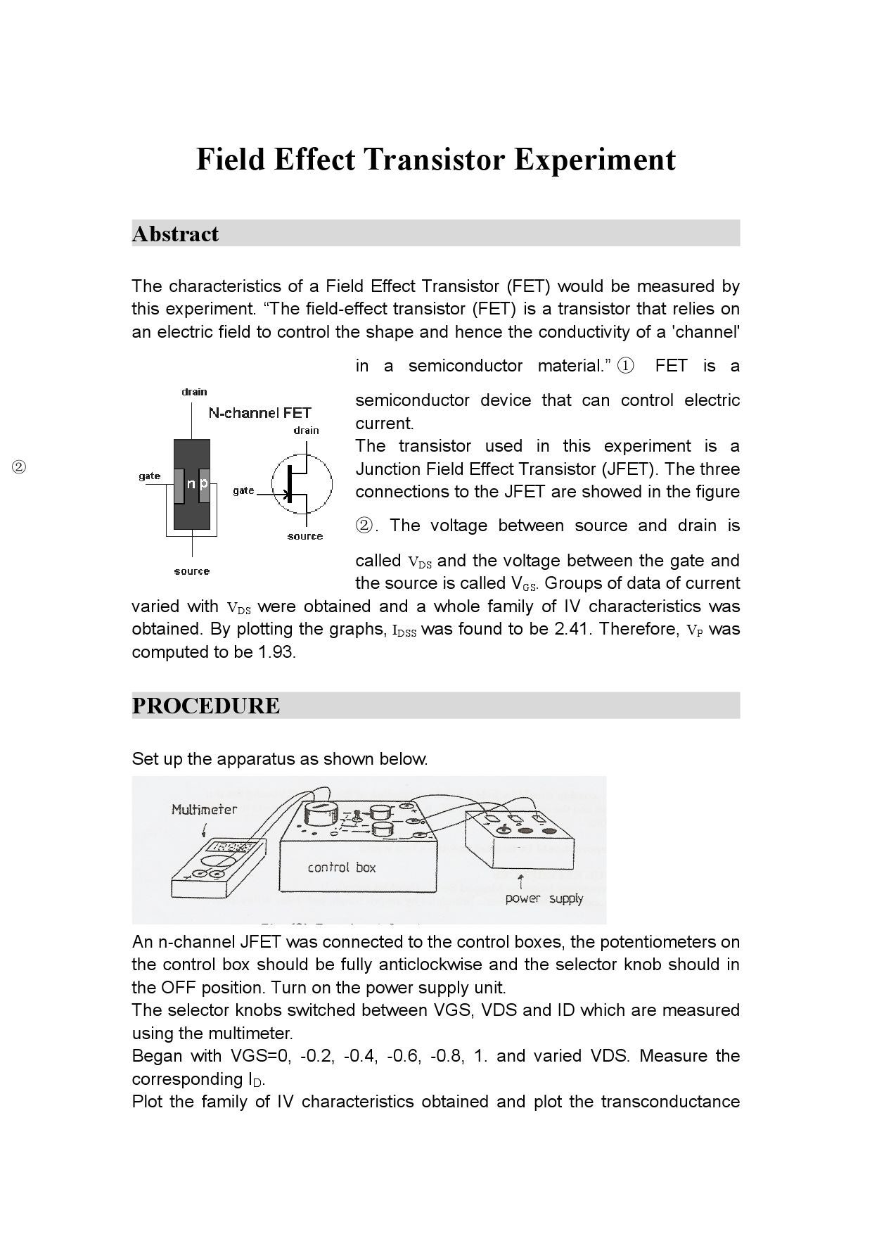 Page on N Channel Jfet Transistor