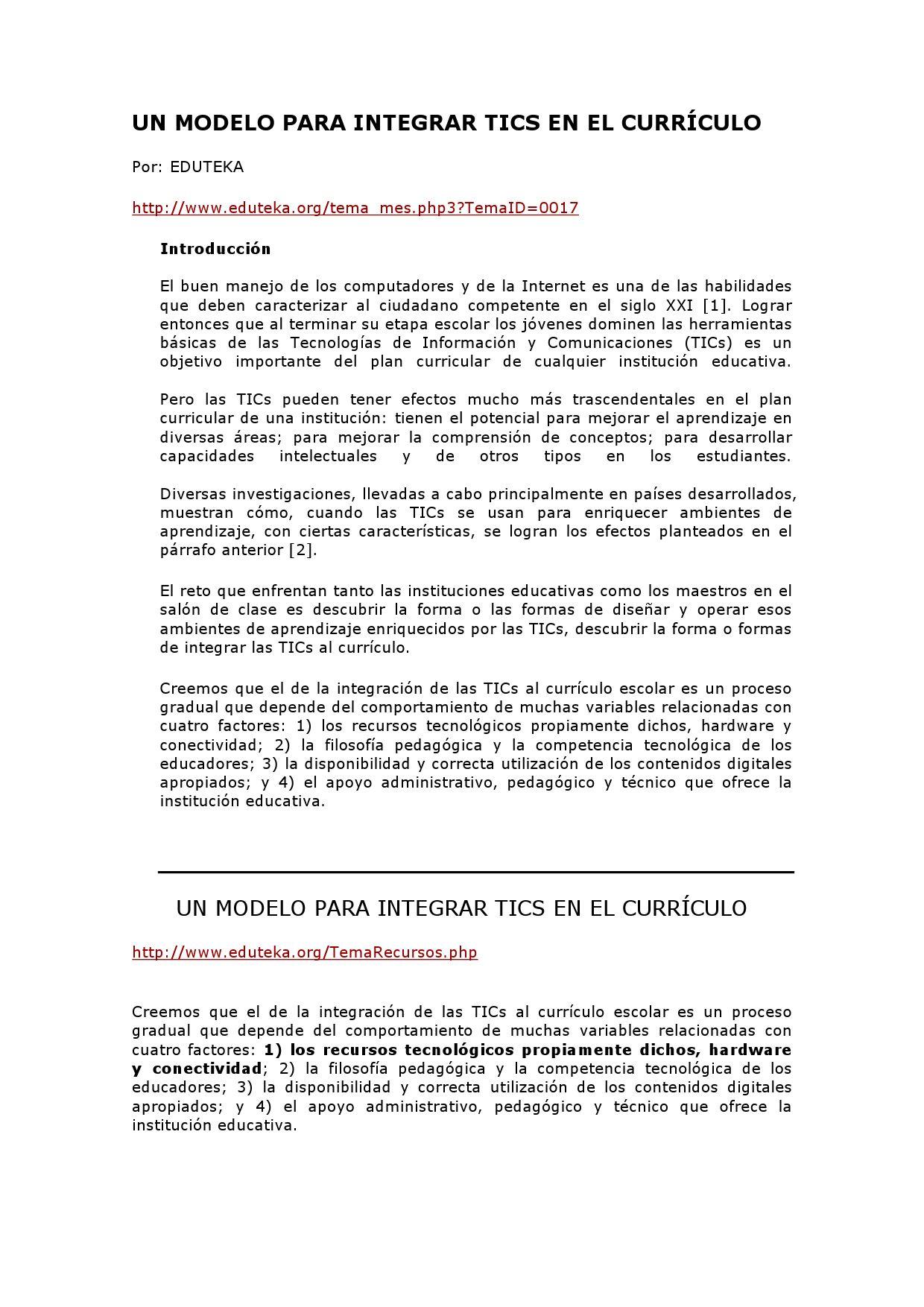 Un modelo para integrar tic en el currículo by José Alvarez - issuu
