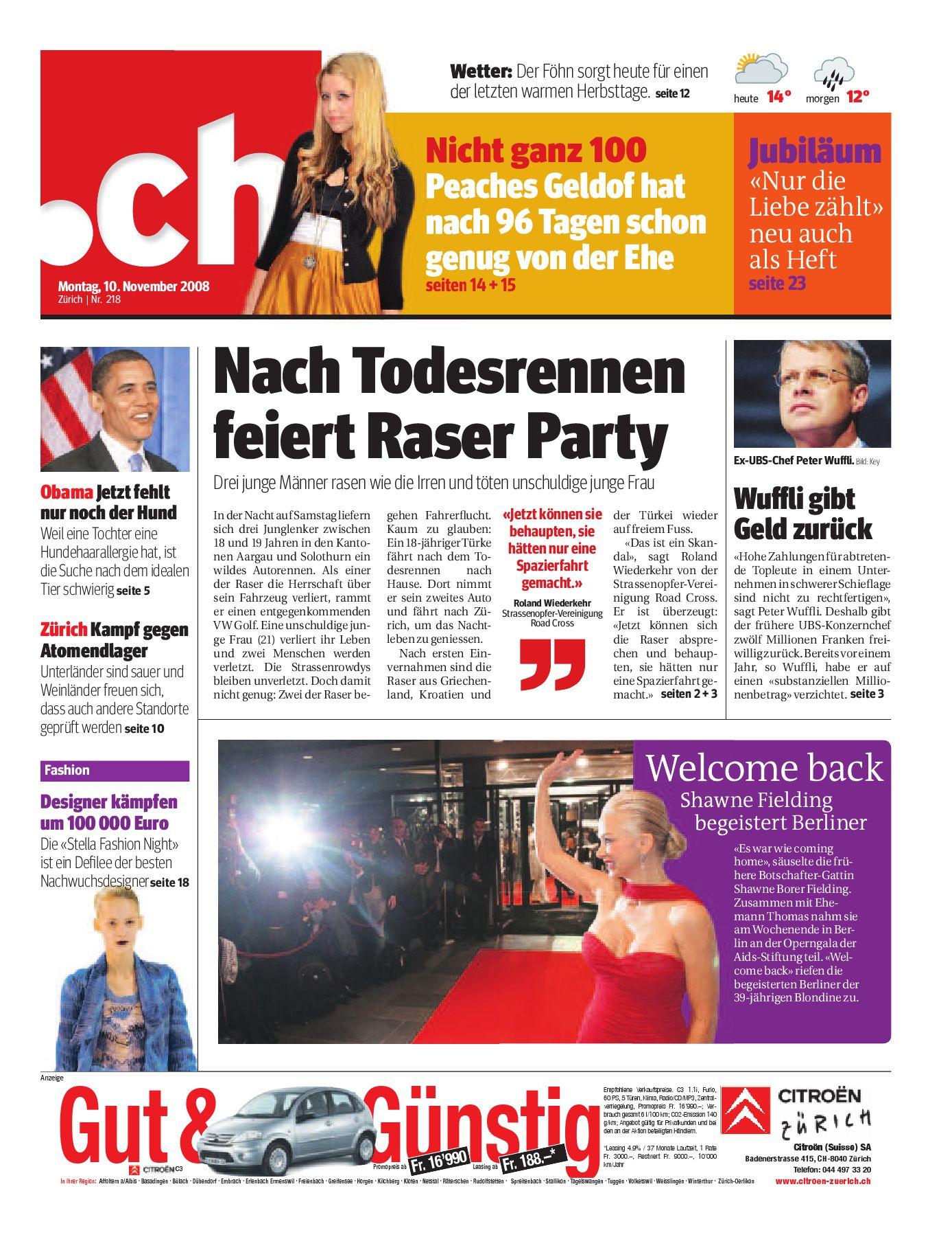 Kuscheln mit der Ersatzpartnerin | Zrichsee-Zeitung