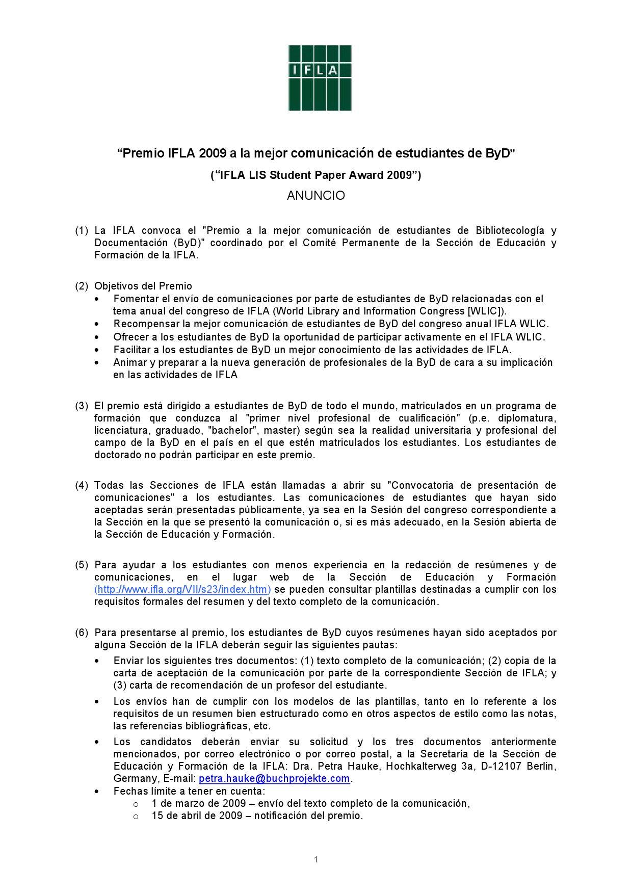 Participación IFLA 2009 by Elizabeth Huisa Veria - issuu