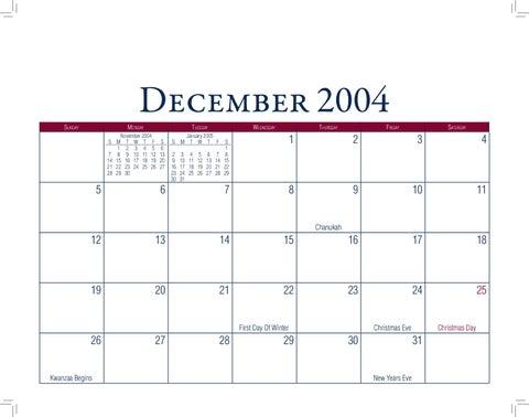 2005 kalender 2005