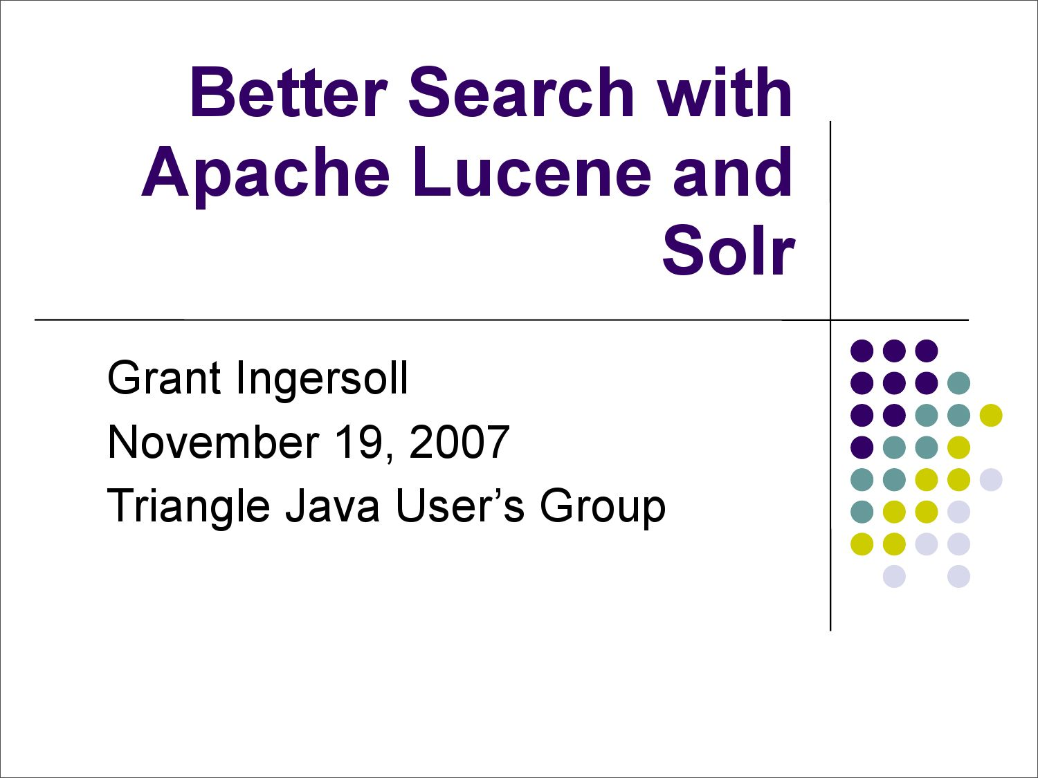 Better search with apache lucene and solr by smnthil smsenthil better search with apache lucene and solr by smnthil smsenthil issuu baditri Gallery