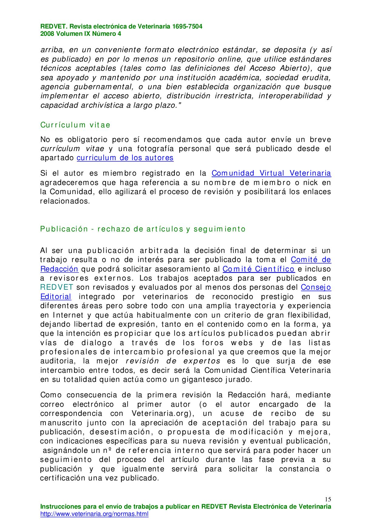 REDVET Vol.IX nº11 Noviembre/2008 by Veterinaria Organizacion ...