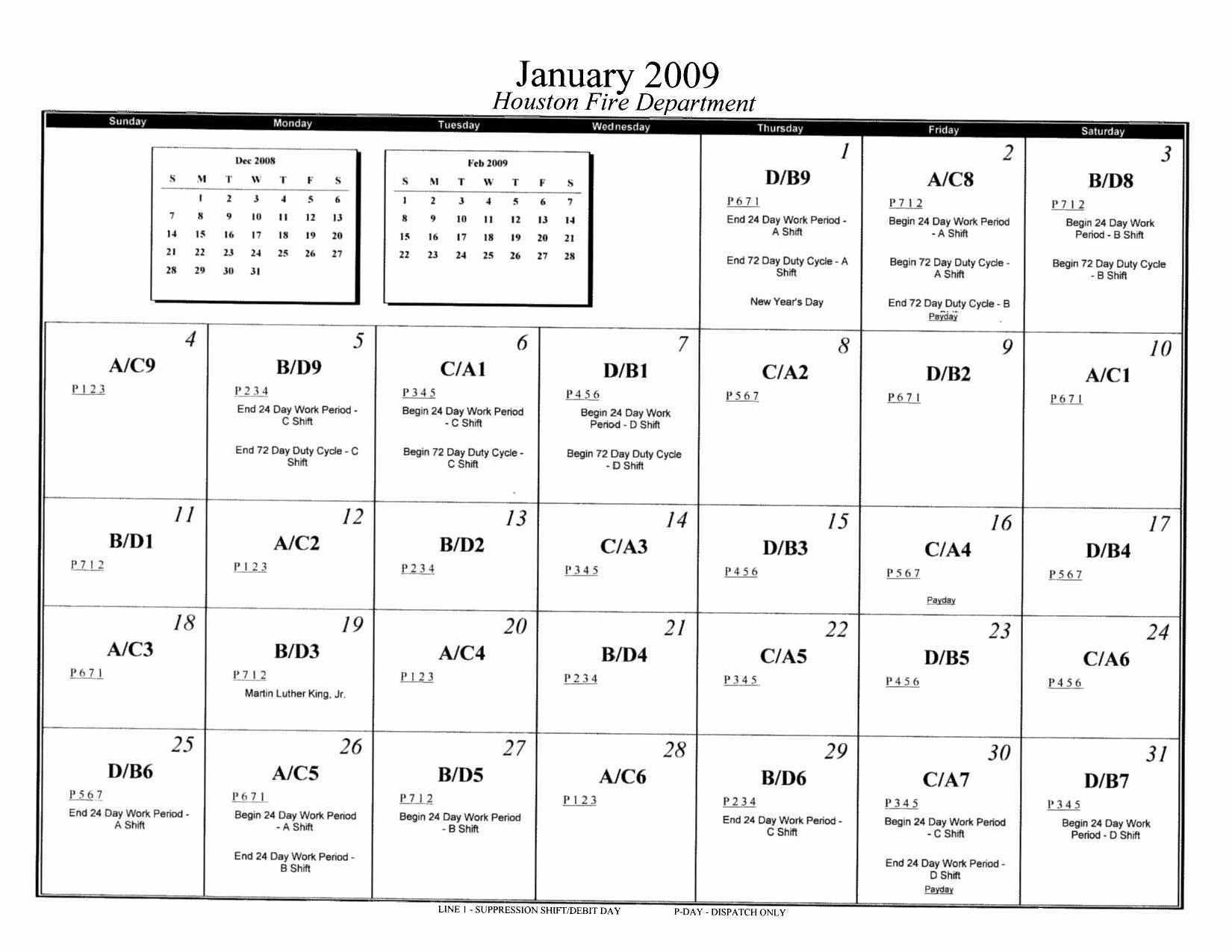 Hfd 2009 Suppression Shift Calendar By Capcuervo Issuu