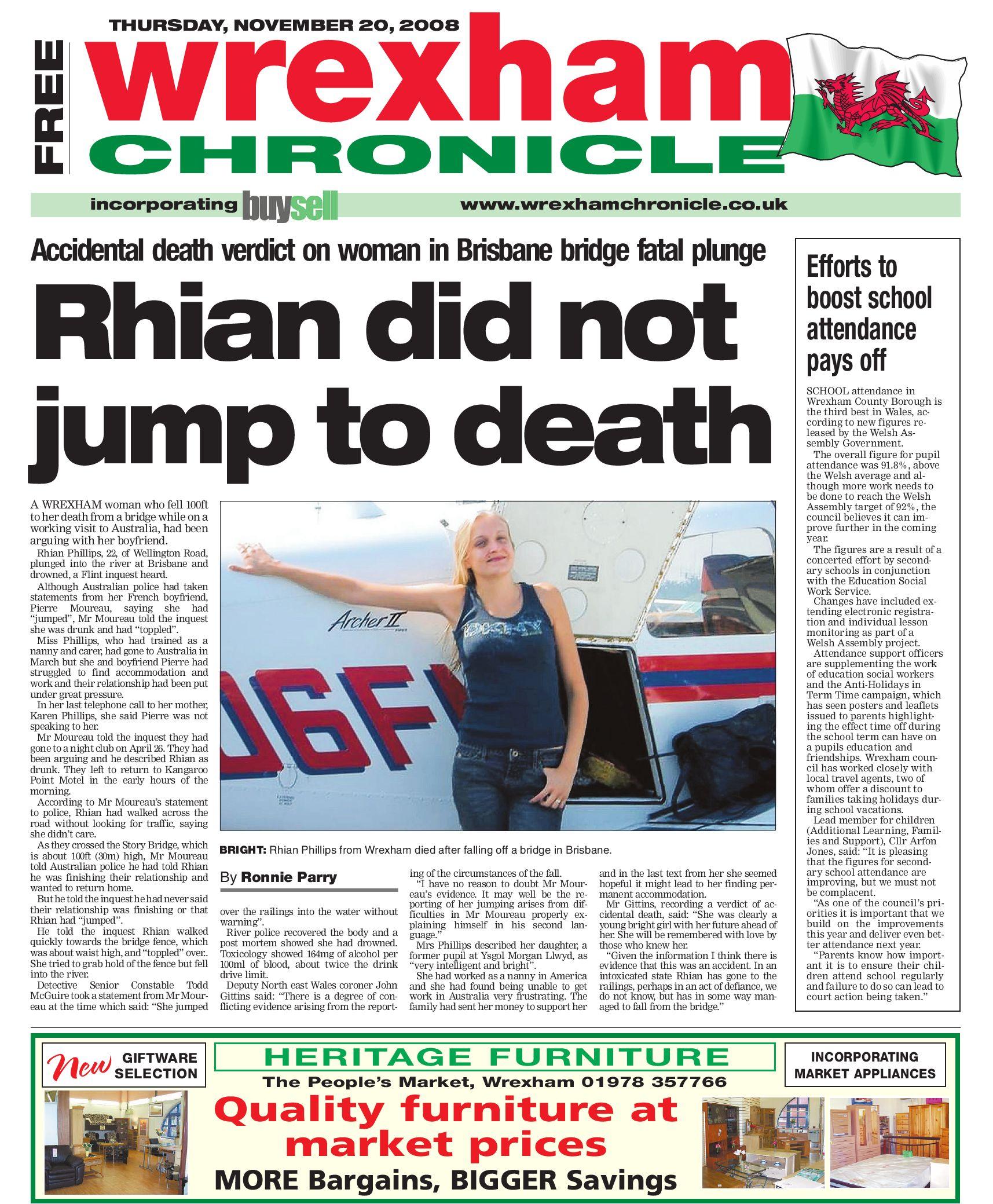 82aa54b8080a Wrexham Chronicle, 20/11/08 by James Shepherd - issuu