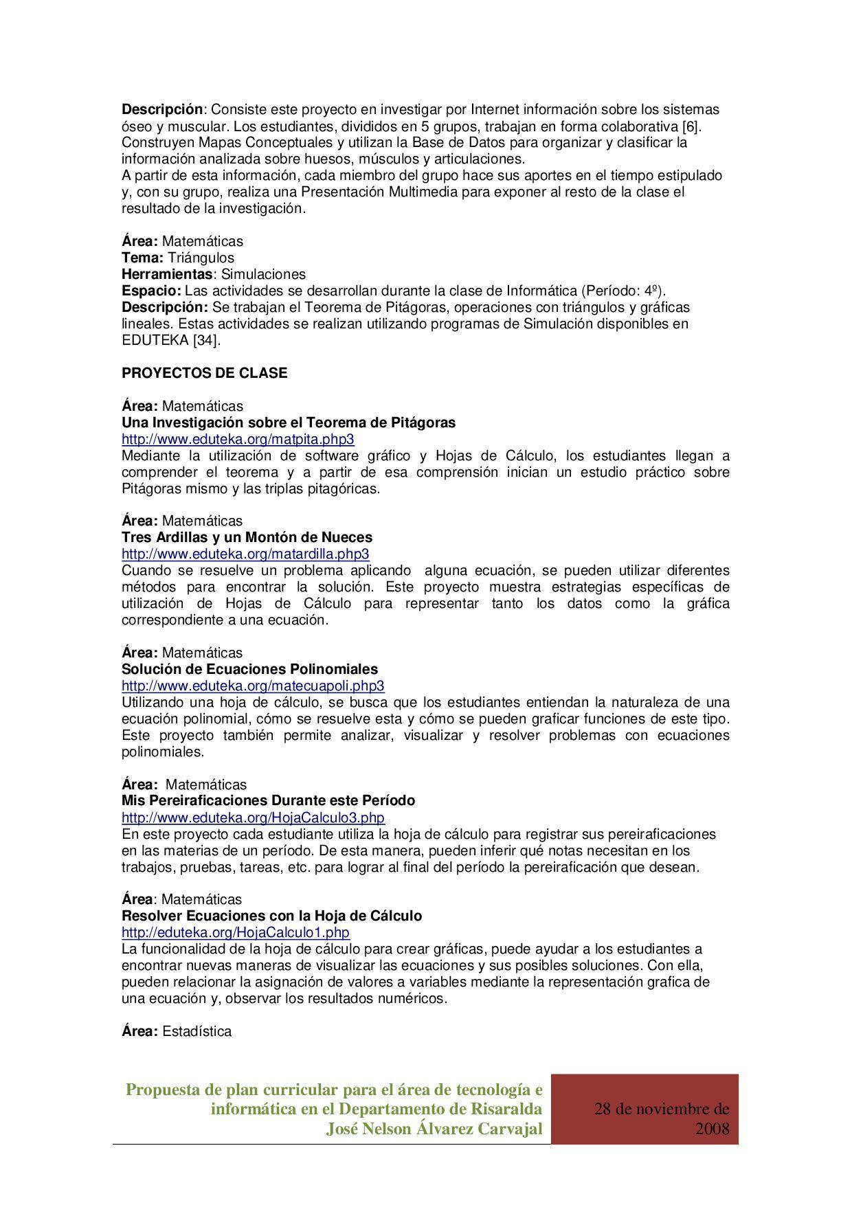 Propuesta de plan de estudios area de tecnologia e informatica by ...