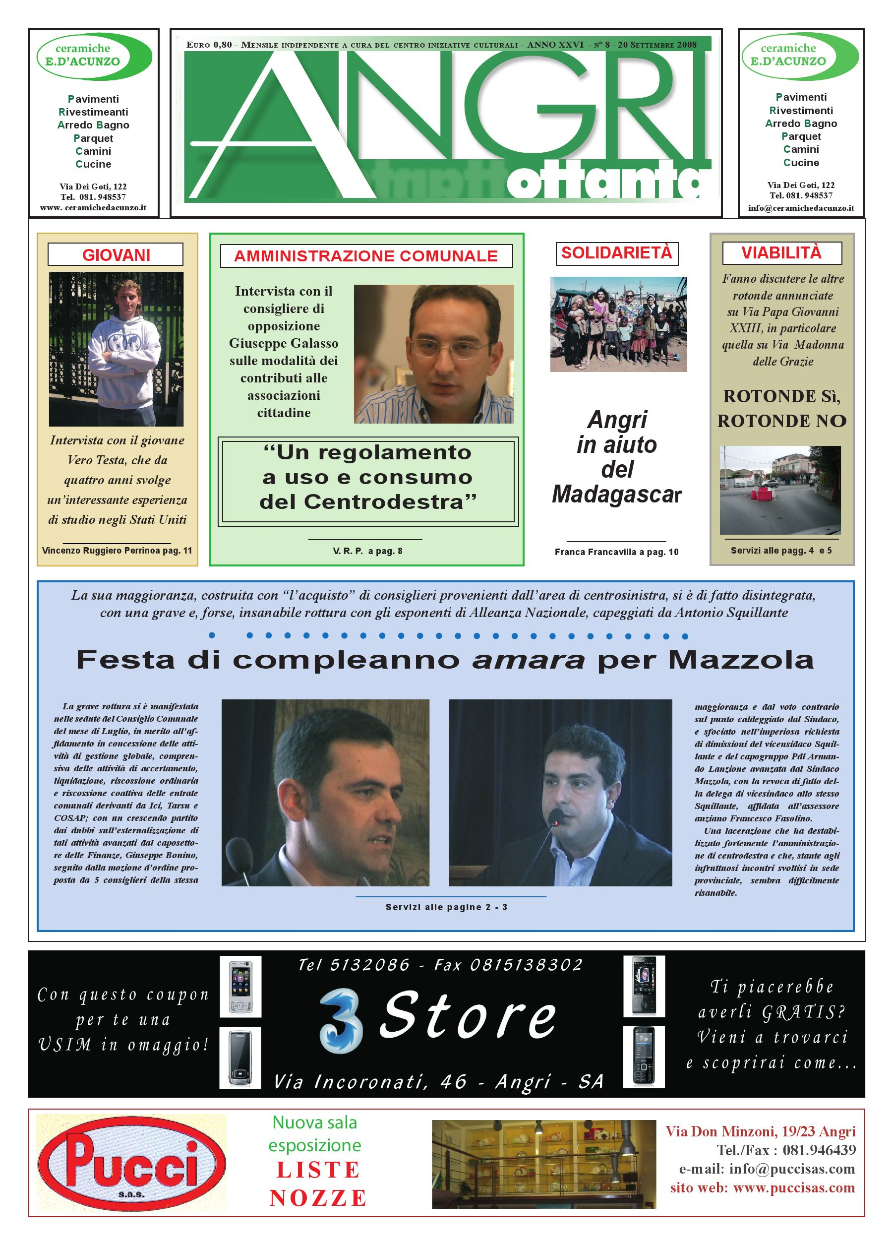 angri80 ott.2008 by piazzadoria piazzadoria - issuu - Arredo Bagno Angri