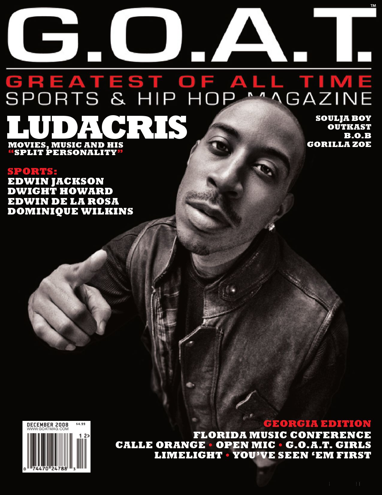Issue # 2, Dec 2008 by G O A T  Magazine Greatest of all