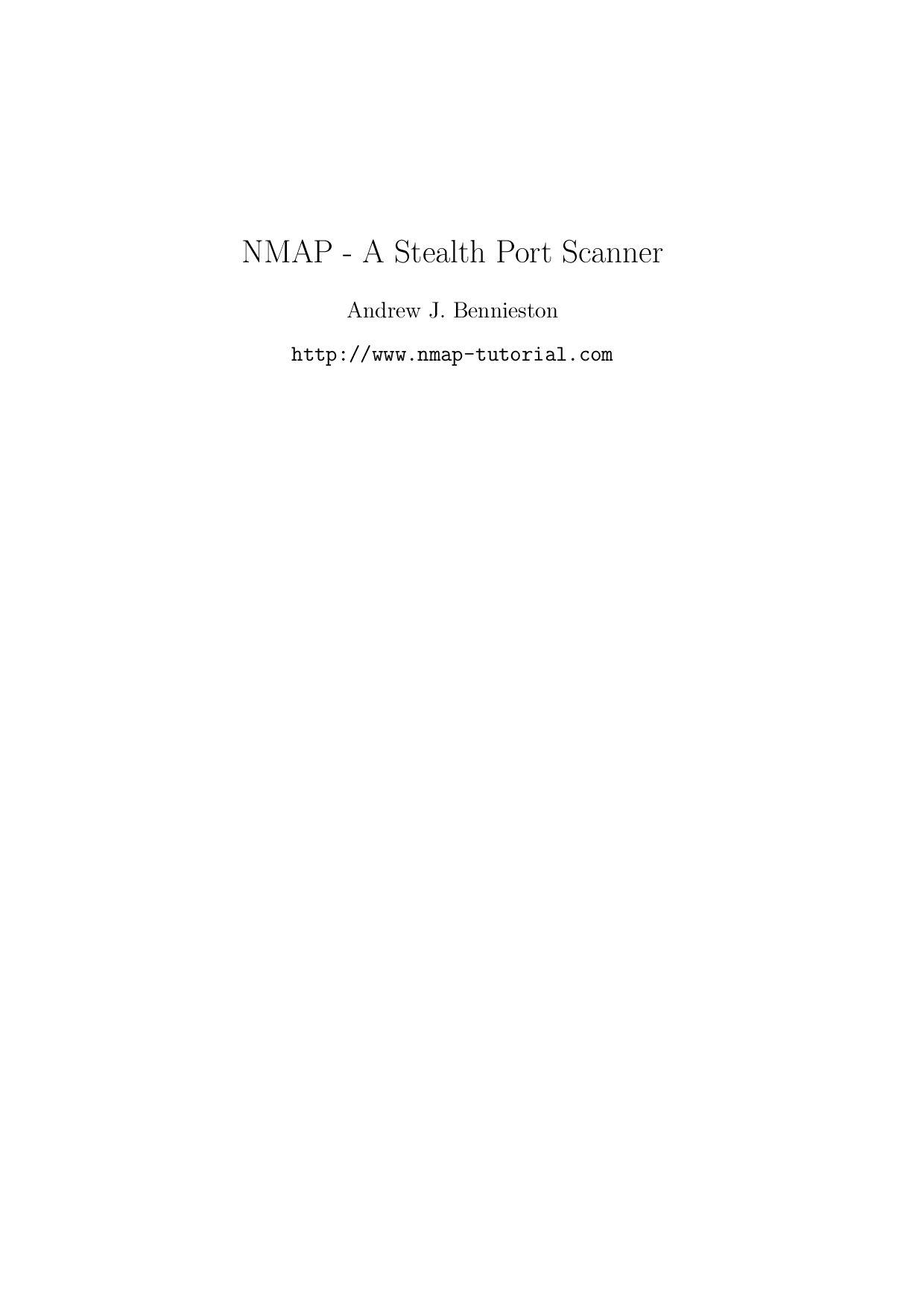 NMAP - A Stealth Port Scanner by Gabriela Torres - issuu