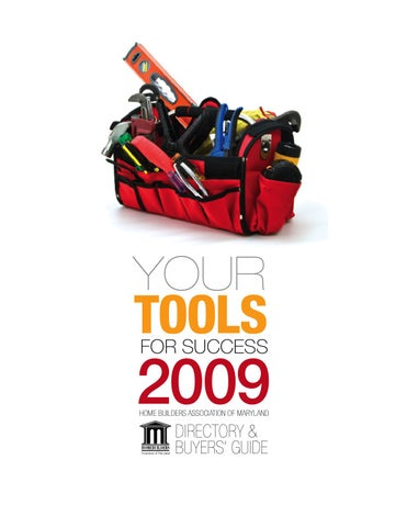 Page 1 Your Tools For Success 2009 Home Builders Ociation