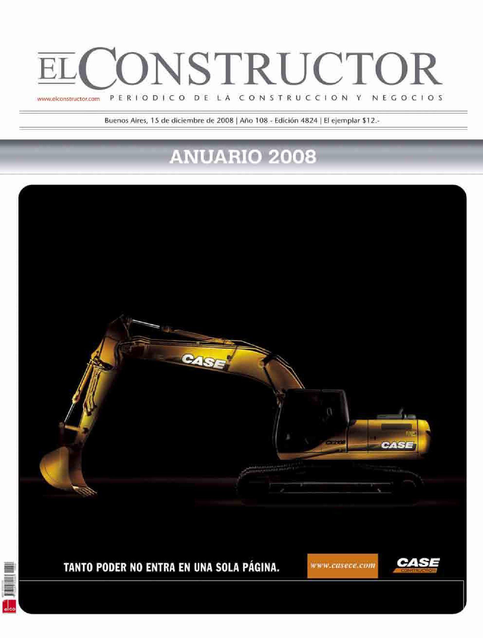 EL CONSTRUCTOR | ANUARIO 2008 by ELCO Editores - issuu
