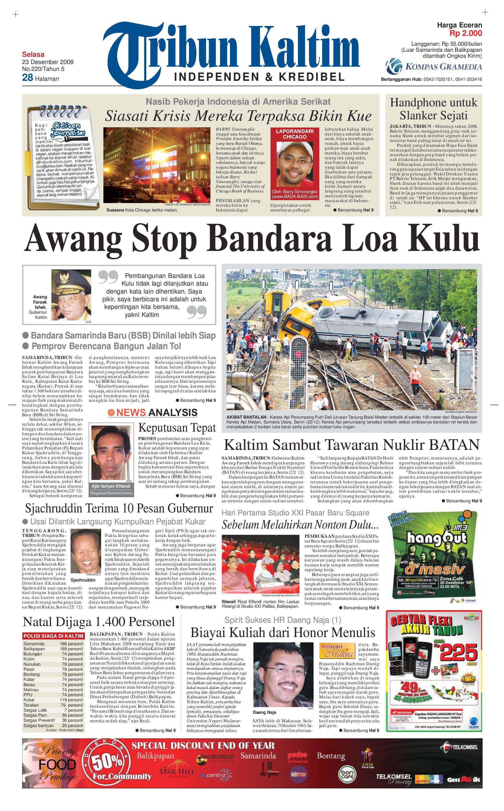 TRIBUNKALTIM 23-12-2008 by tohir tribun - issuu 5c8708b4ce