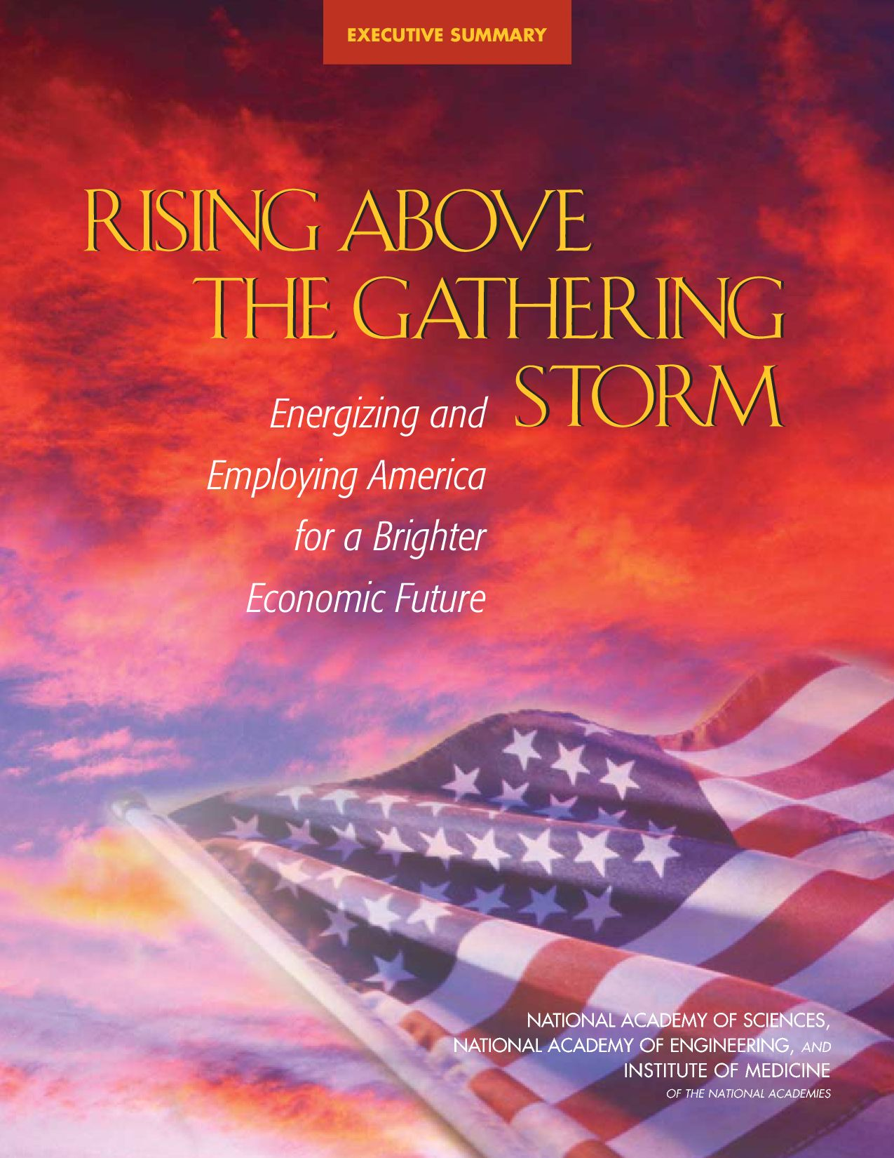 Rising Above the Gathering Storm Summary Rising Above the Gathering Storm Summary