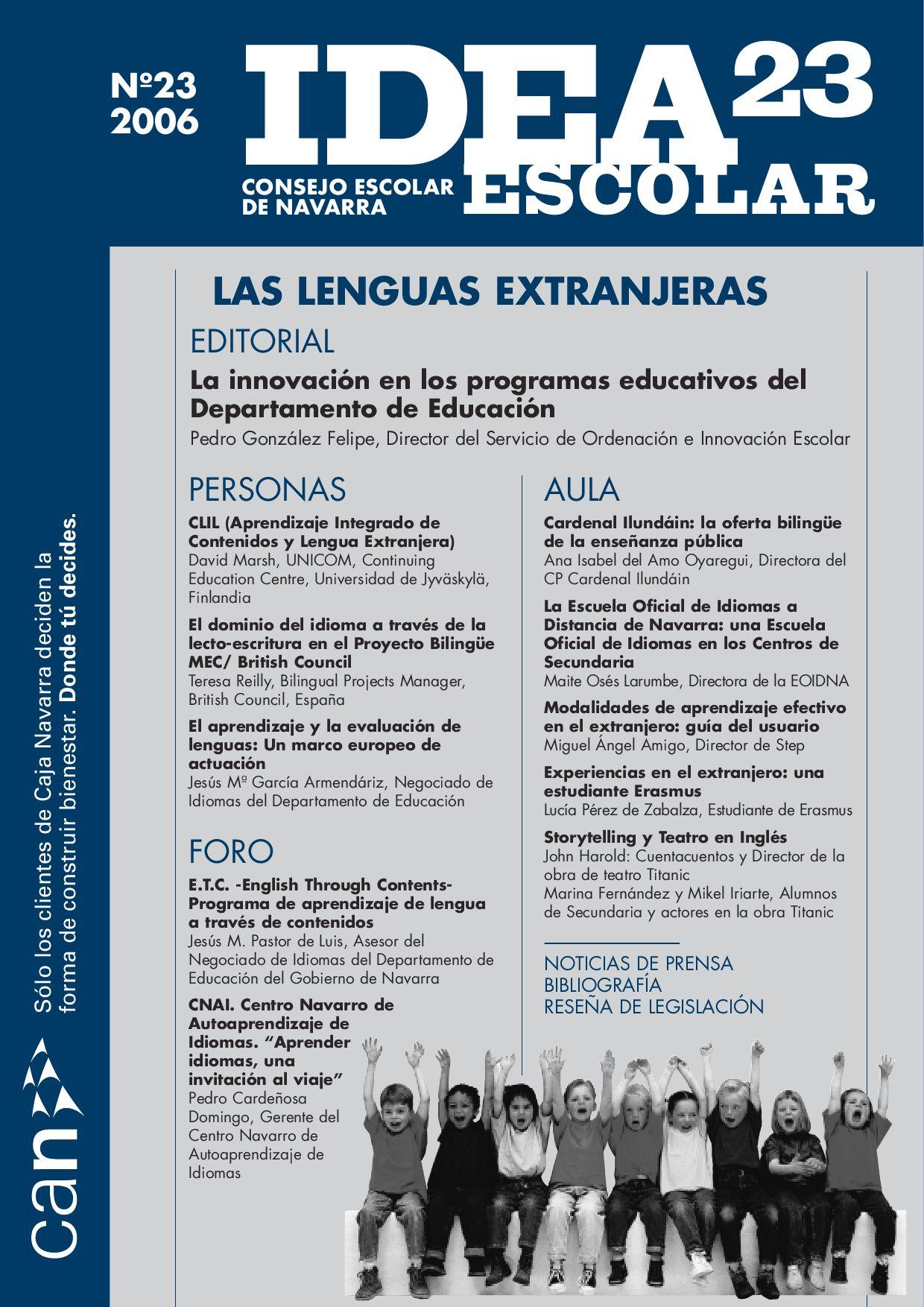 Las lenguas extranjeras by Consejo Escolar de Navarra CENavarra - issuu