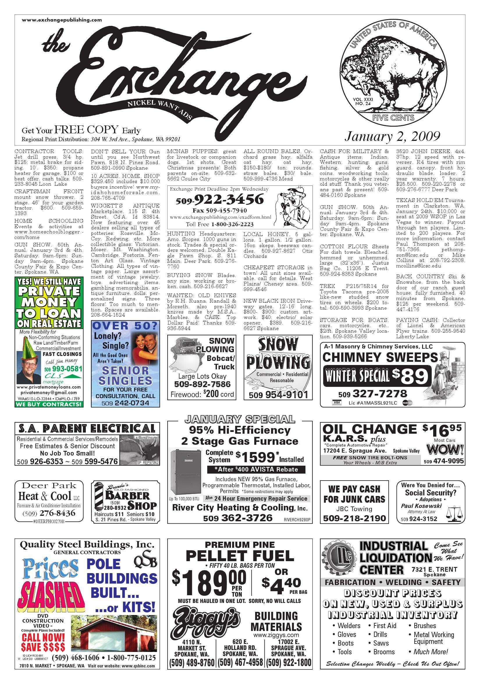 The Exchange - January 2, 2009 by Exchange Publishing - issuu