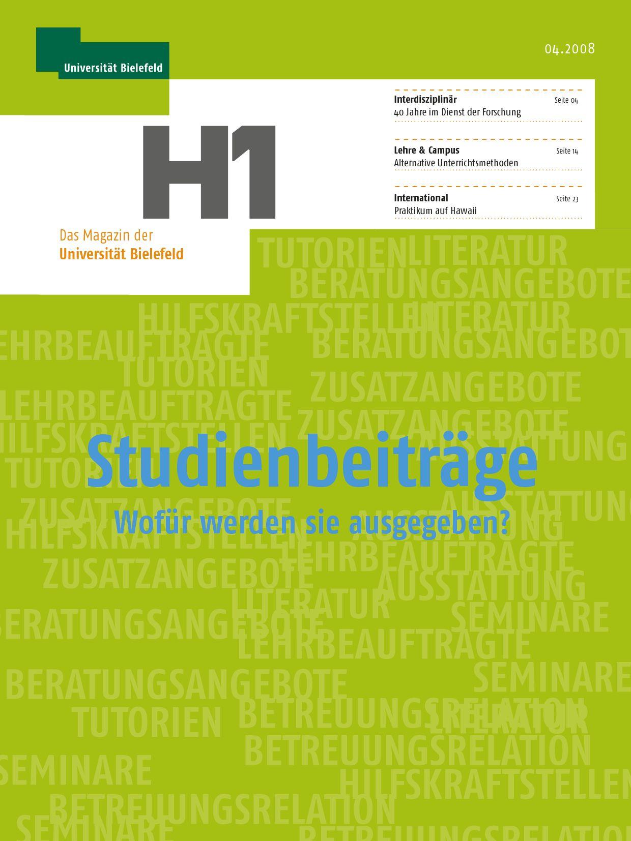 H1 Magazin der Universität Bielefeld by Markus Paulussen - issuu
