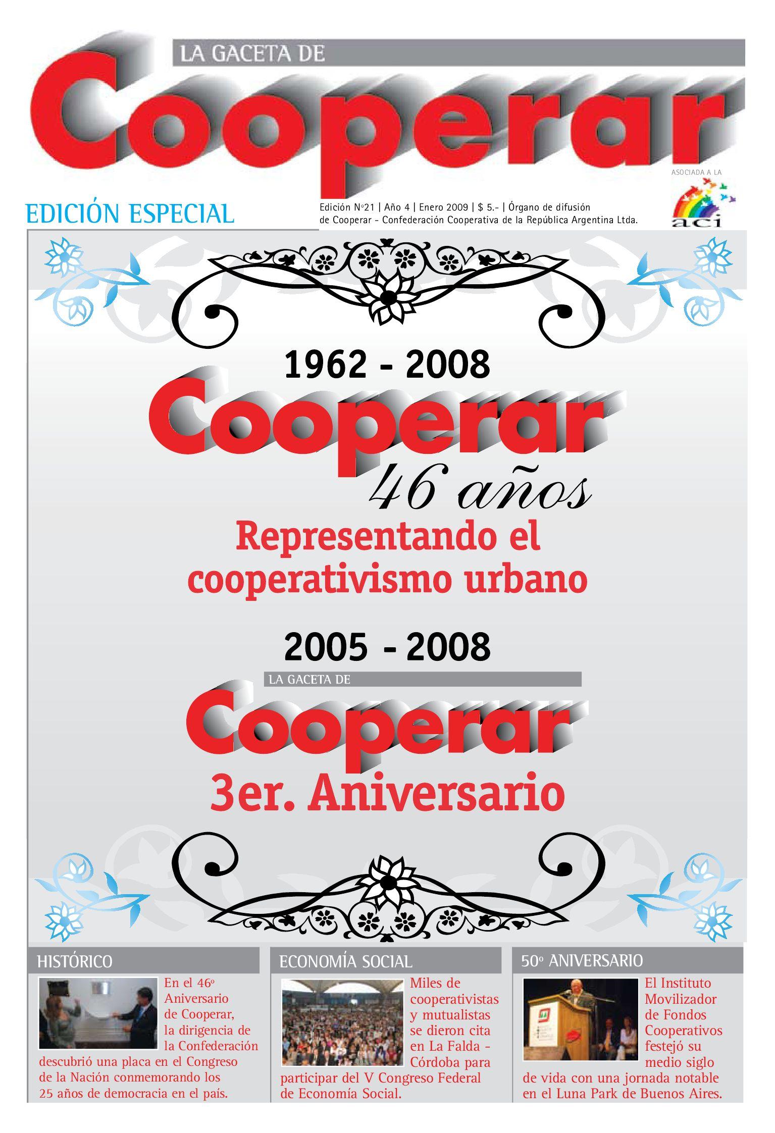 La Gaceta de Cooperar - Edición 21 by Cooperar - issuu