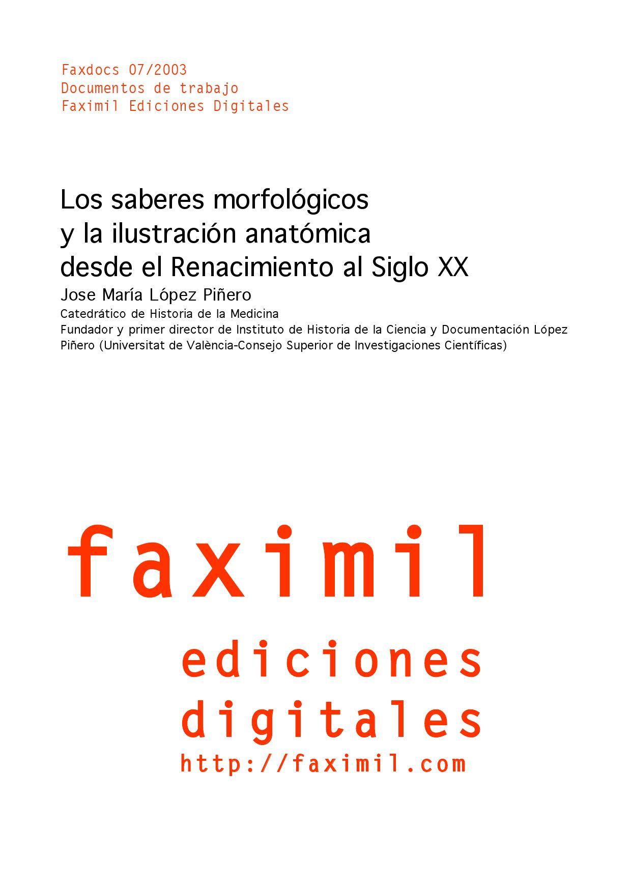 Los saberes morfológicos y la ilustración by Faximil Edicions ...