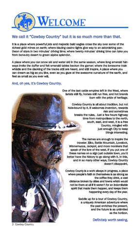 Nevada Cowboy Country Territory Guide By Nevada Commission On
