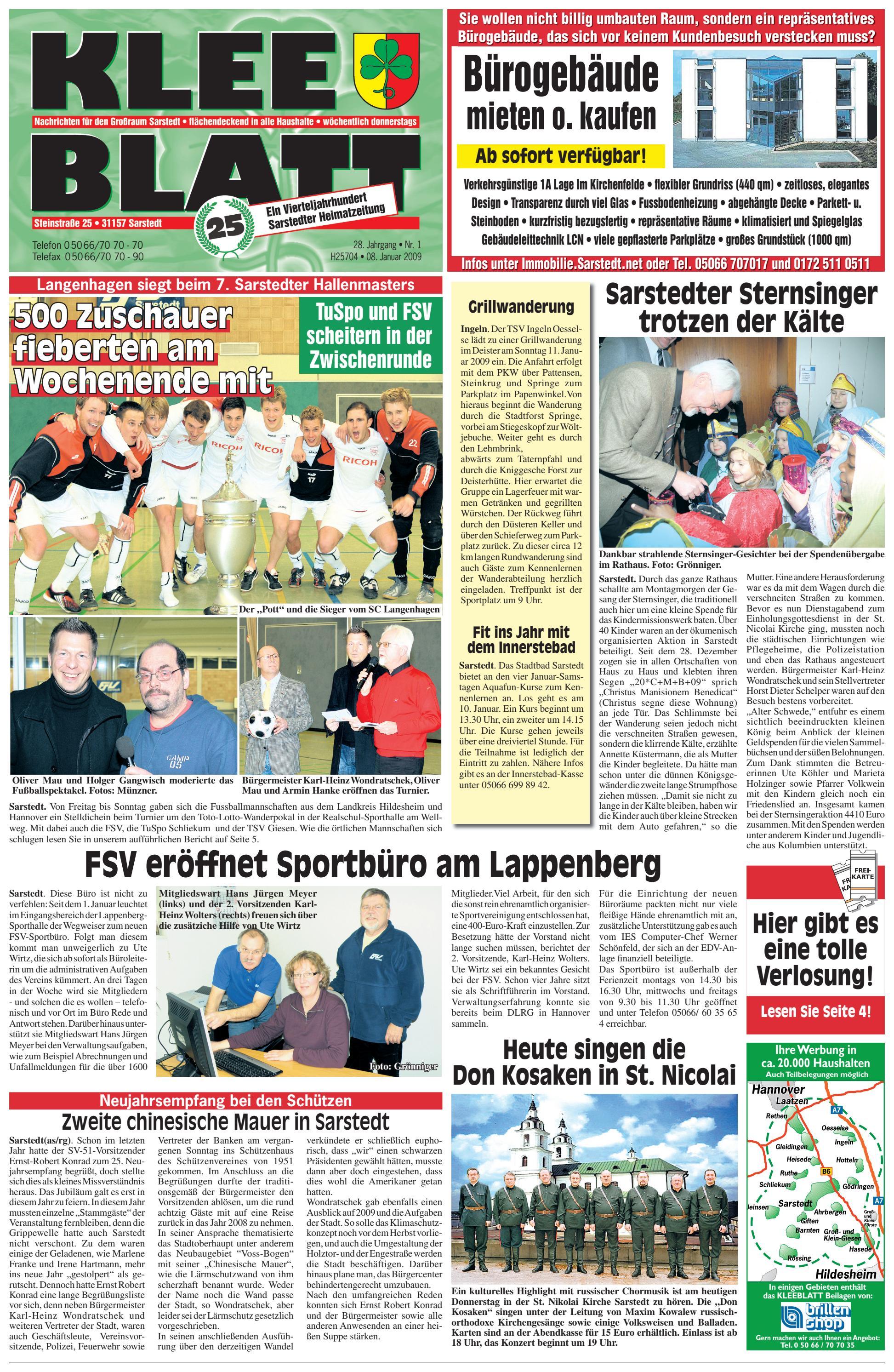 Kleeblatt 08 01 2009 By Kleeblatt Verlag Issuu