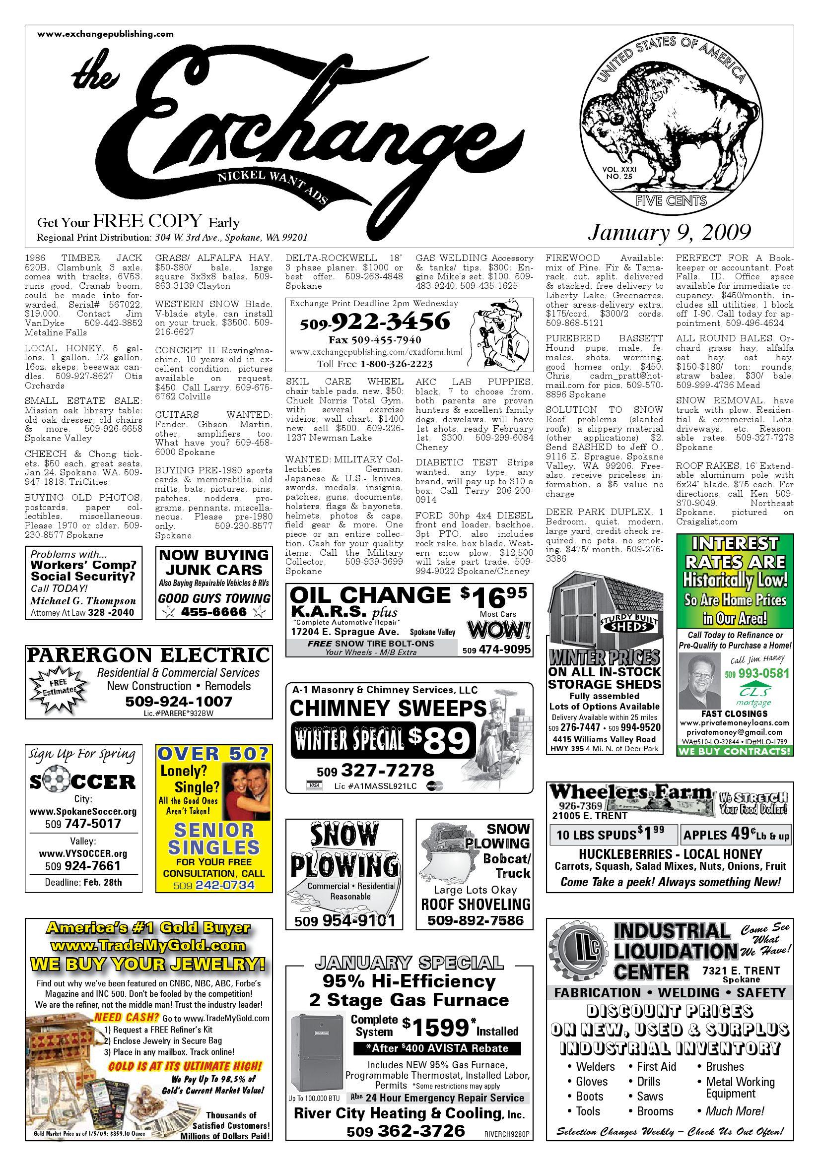 Exchange - January 9, 2009 by Exchange Publishing - issuu