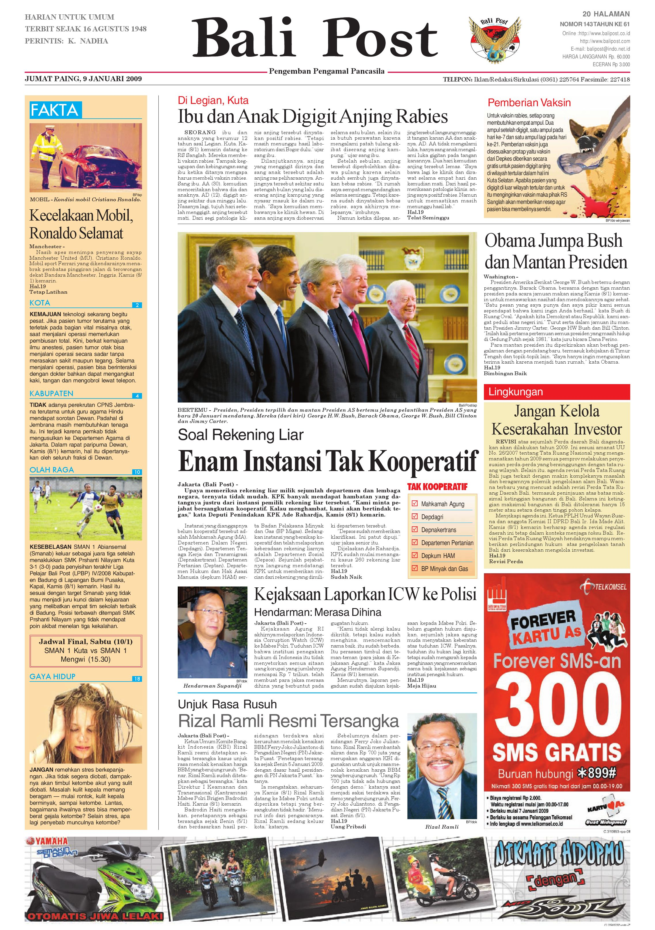 Bali Post Edisi 06 Januari 2009 By E Paper Kmb Issuu Produk Ukm Bumn Brasso Metal Polish 200 Ml Jumat 9
