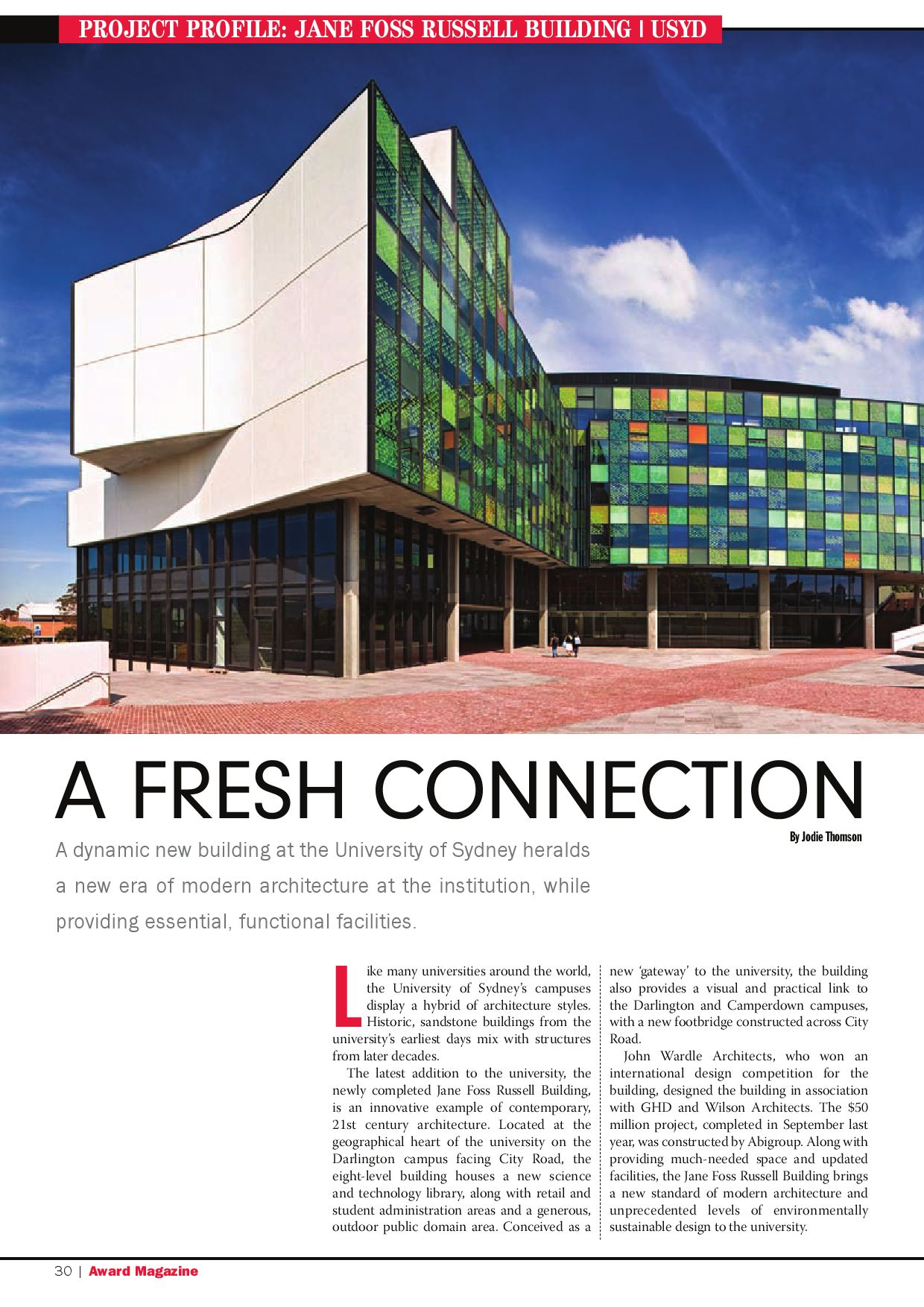 Project Profile: Jane Foss Russell Building   USYD by MediaEdge ...