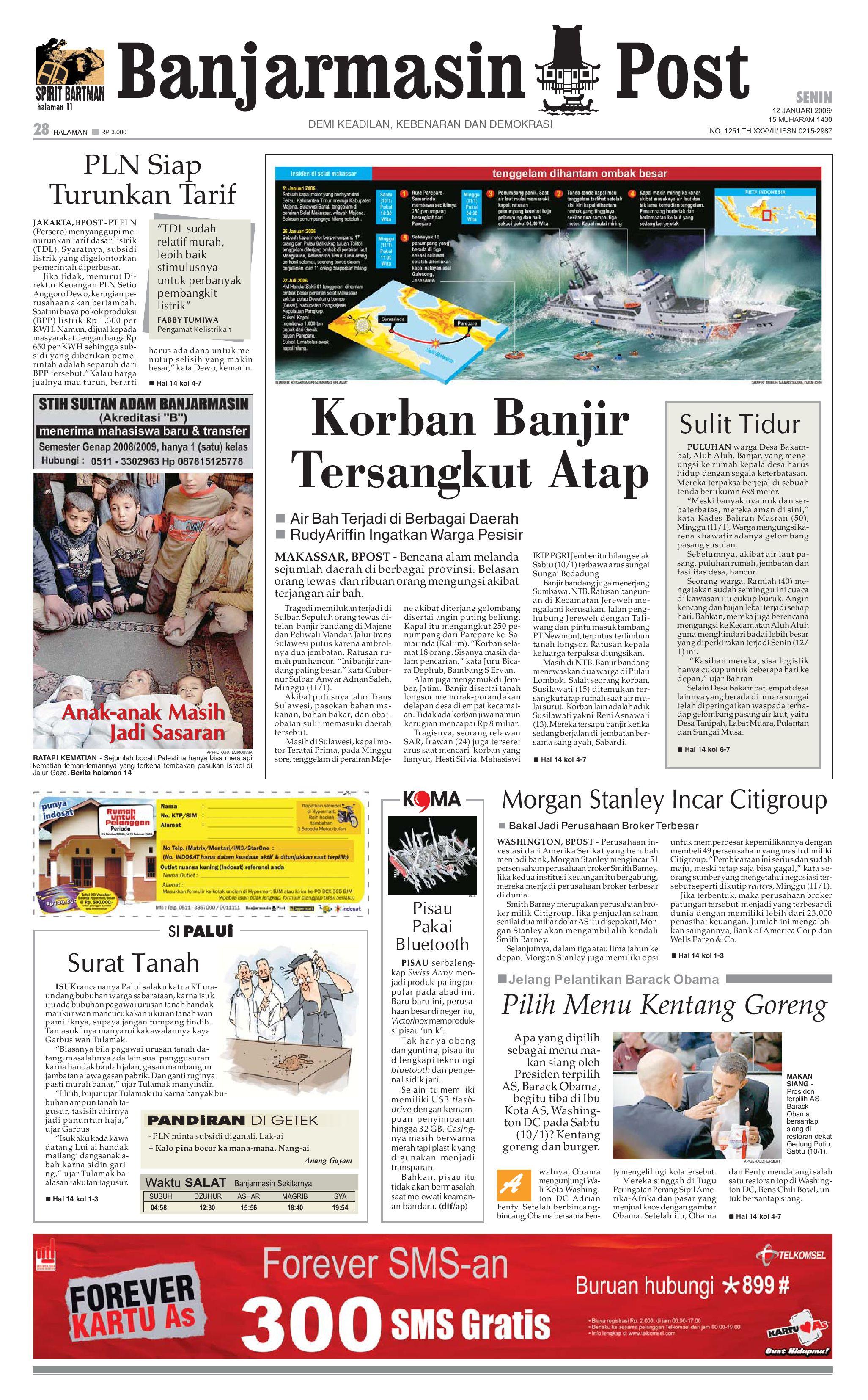 Banjarmasin Post 12 Januari 2009 By Issuu Nature Pecinta Voucher Hypermart 50000 Alam