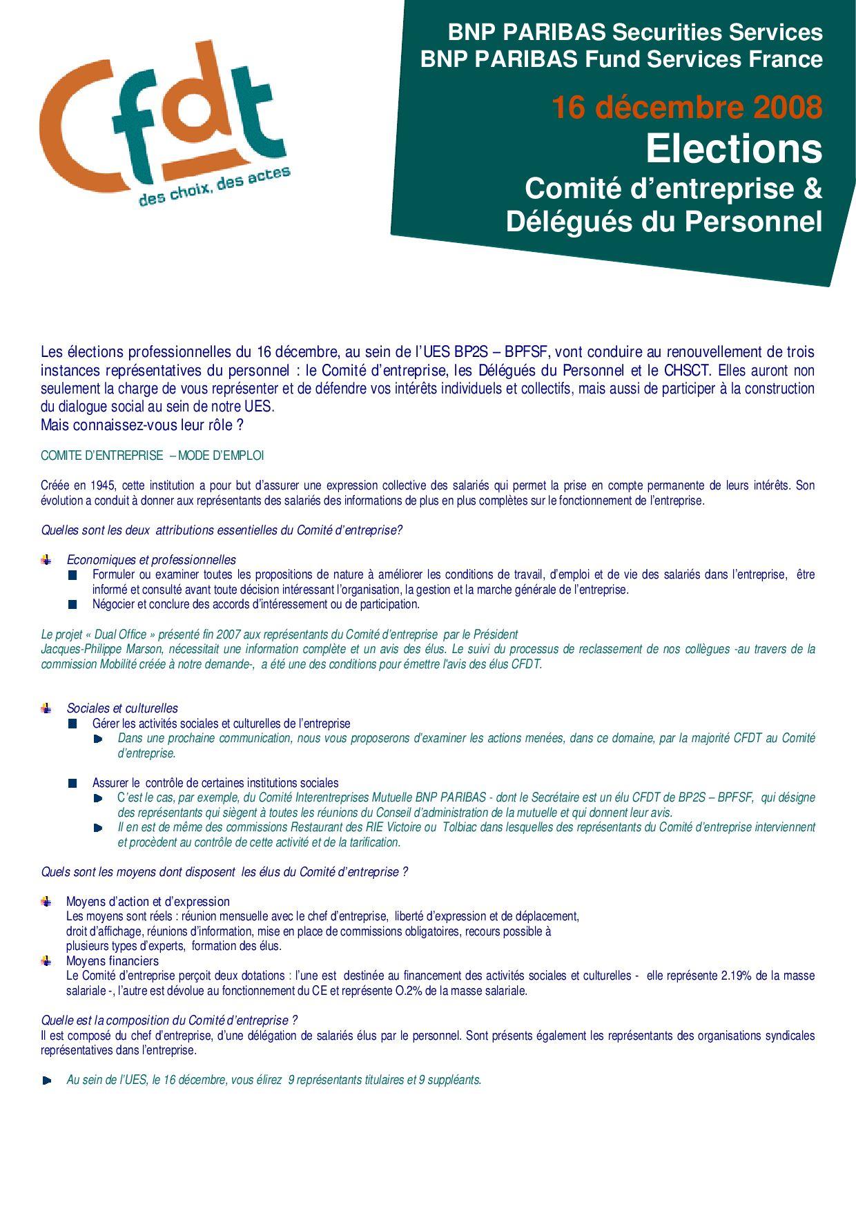 f445a707a57 Recueil des documents édités pendant la campagne des élections DP CE du 16  décembre by BPSS BPFS CFDT - issuu
