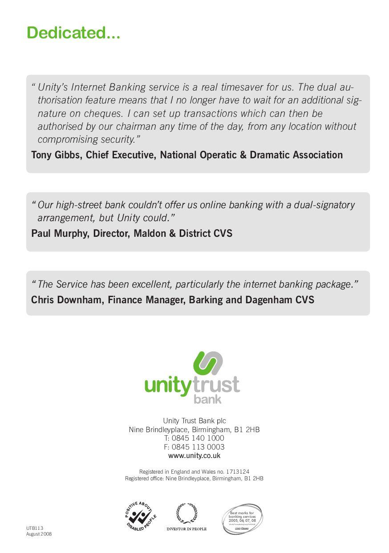 unity trust bank application form