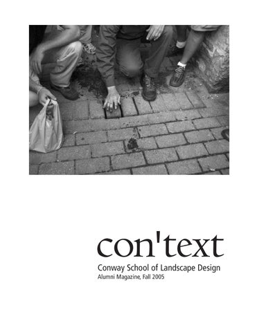 Context031208 By The Conway School Issuu