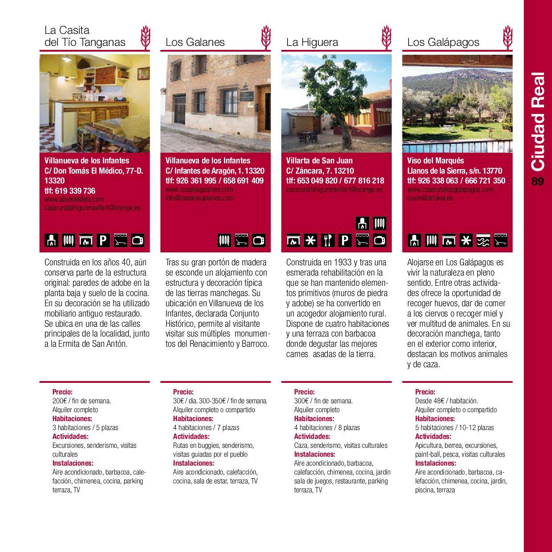 Guia De Casas Rurales De Castilla La Mancha By Mateo Co