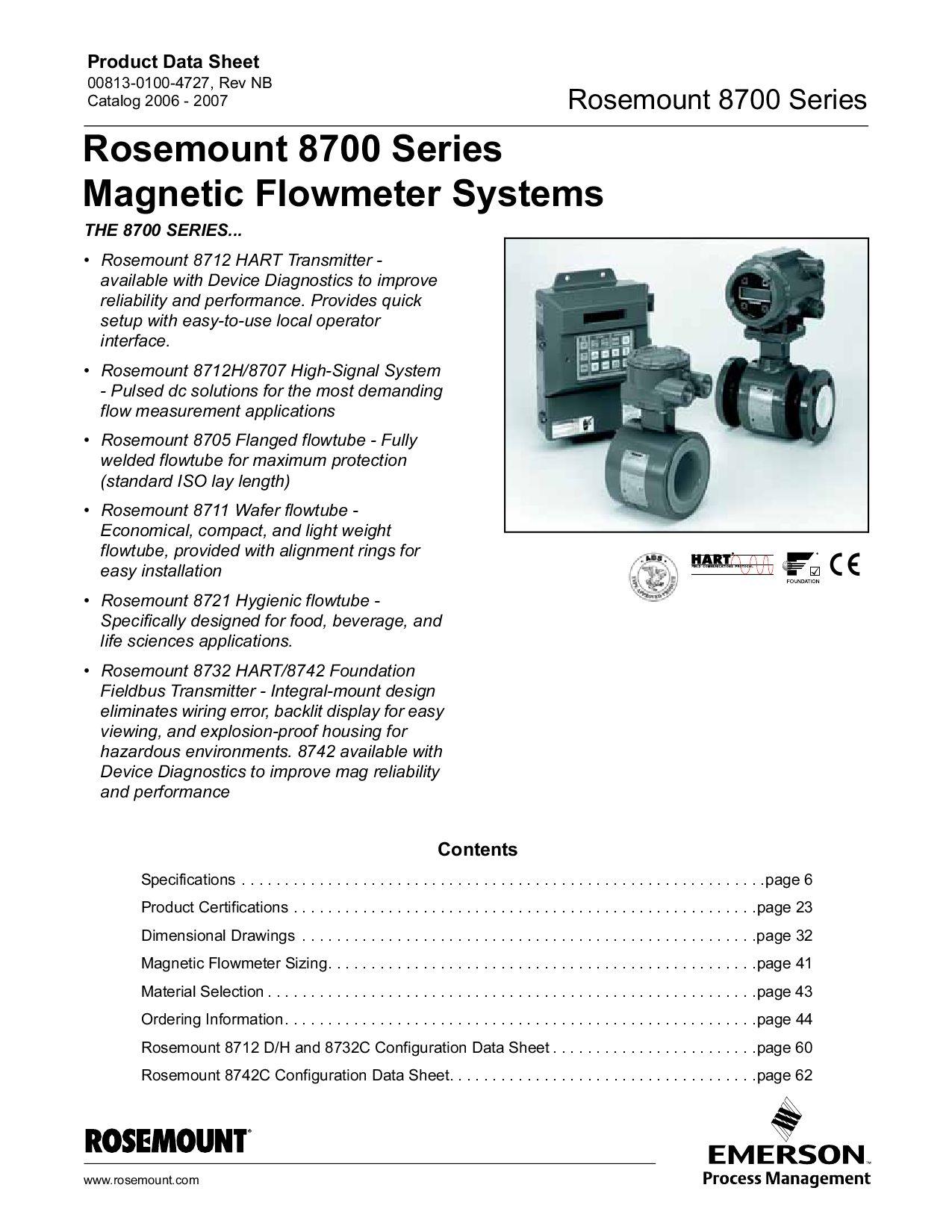 rosemount 8705 magnetic flow meter manual
