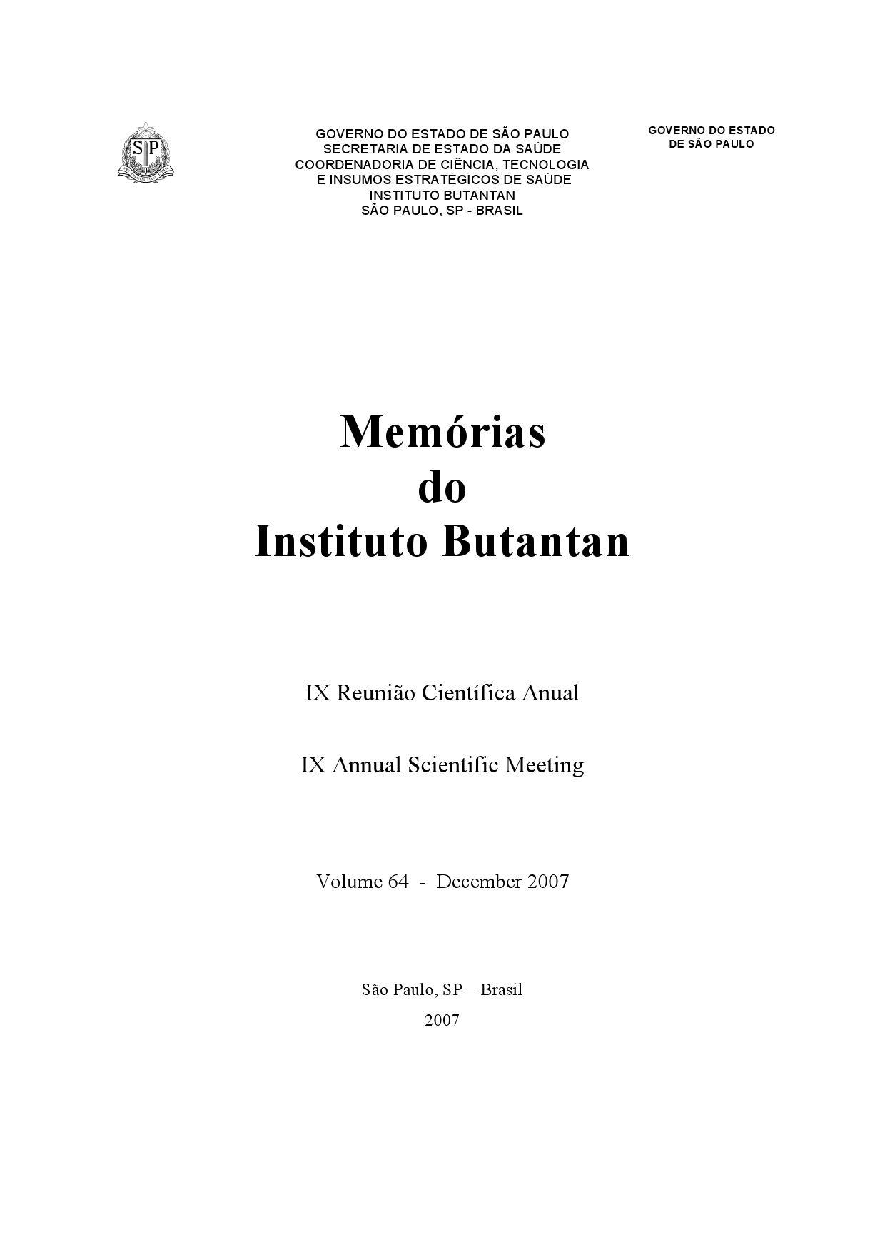 Memórias do Instituto Butantan by Luis Alejandro Rodriguez J