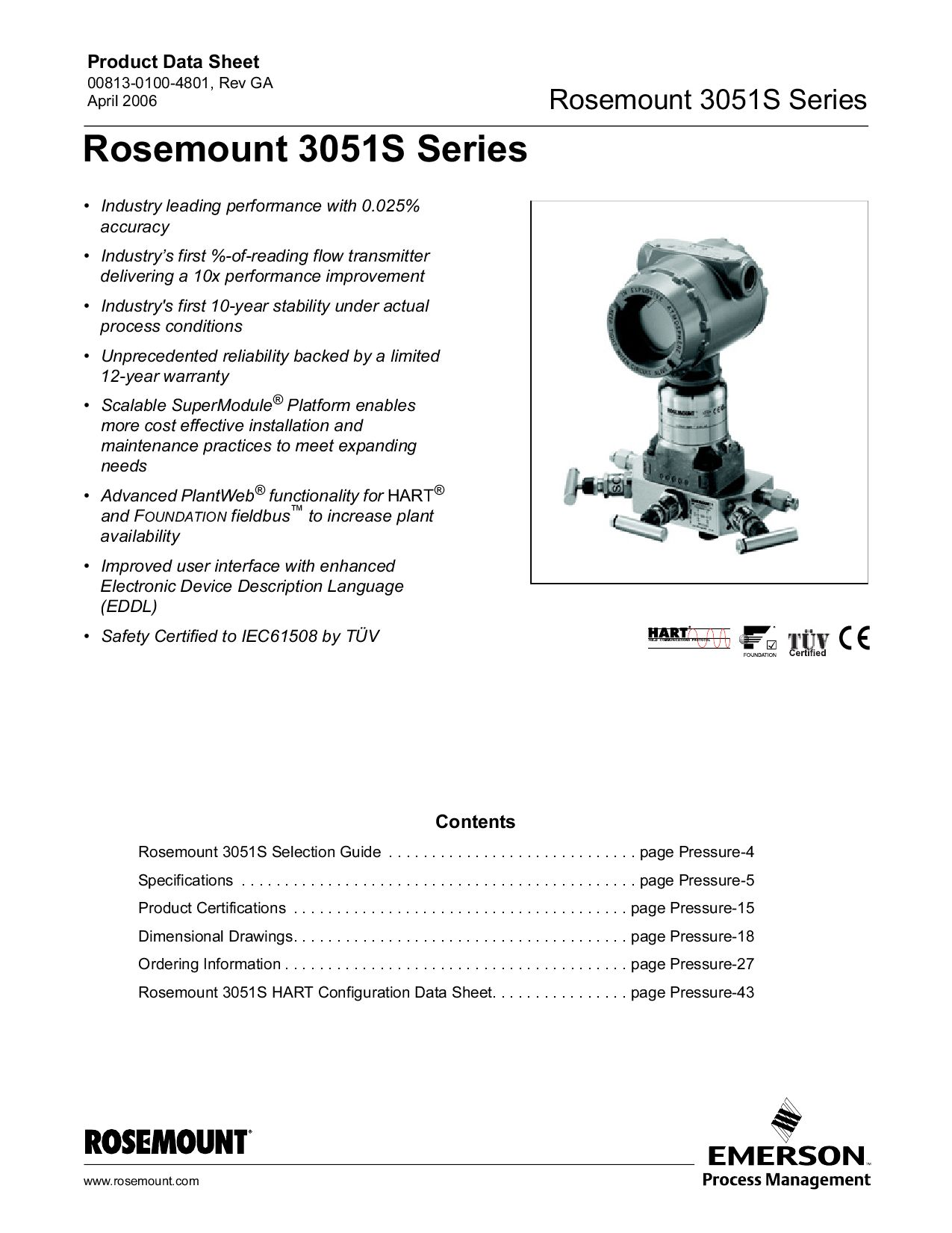 Rosemount 3051S Series - APril 2006 by luppo luppo - issuuIssuu