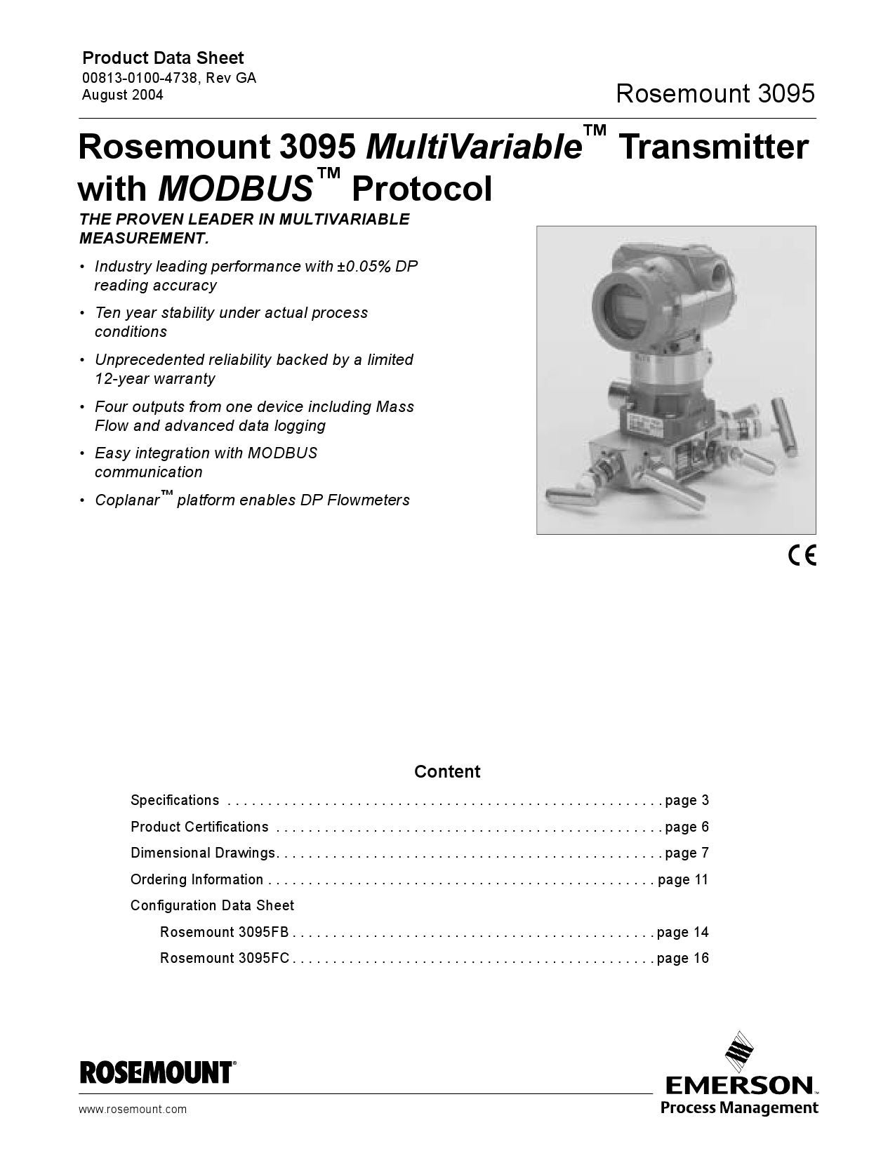 Rosemount 3095 Multivariable Transmitterwith Modbus Protocol Wiring Methods August 2004 By Luppo Issuu