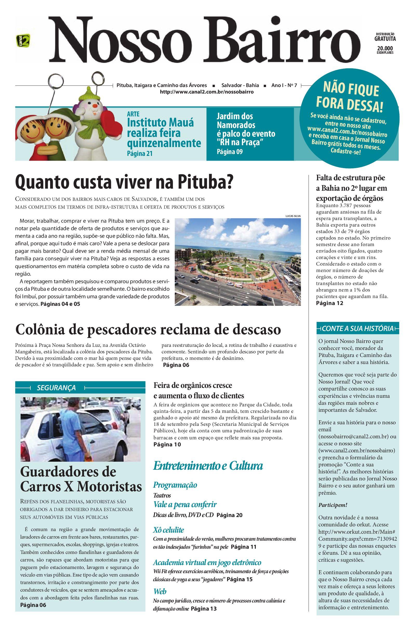 eecc33754 Jornal Nosso Bairro #07 by Canal 2 Comunicação - issuu