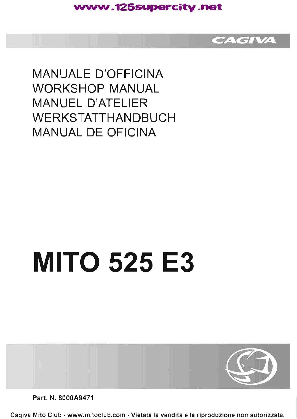 Manuel Cagiva Mito 525 E3 By Christ Cfouq Issuu Alimentazione La Riceve Dal Bec Battery Eliminator Circuit