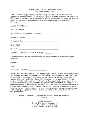Microsoft Word  Transcript Request Form By Judith Kratochvil  Issuu