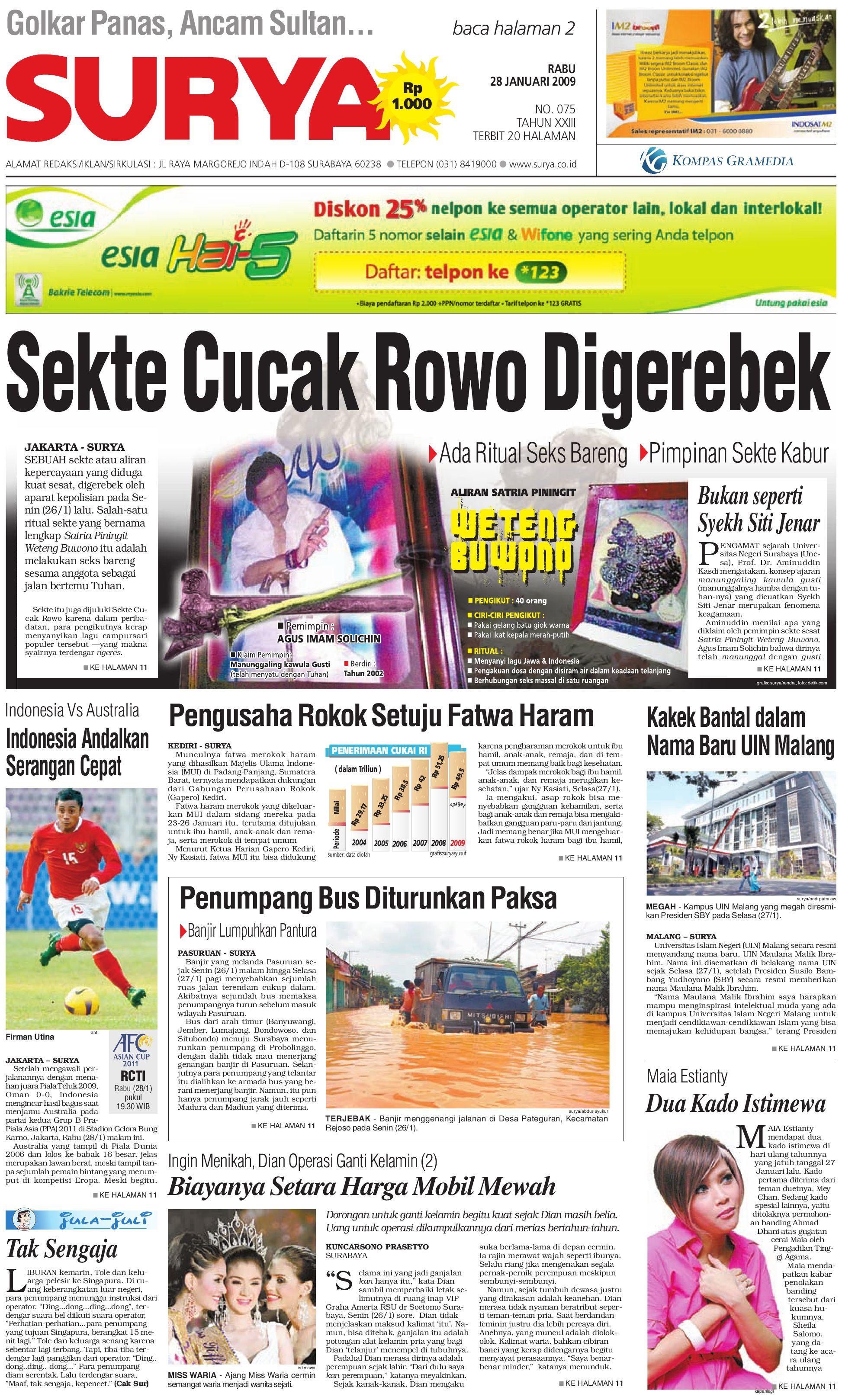 Surya Edisi Cetak 28 Januari 2009 By Harian SURYA Issuu